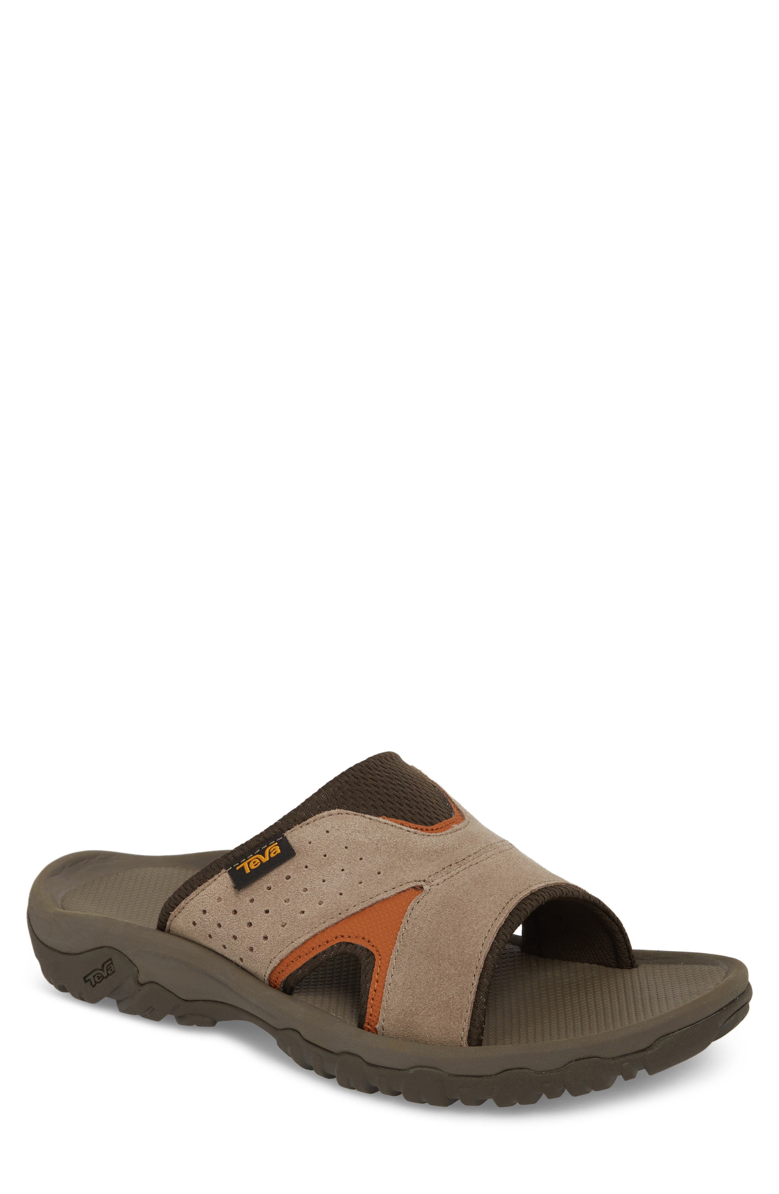 Katavi 2 Slide Sandal,                         Main,                         color, Walnut Suede