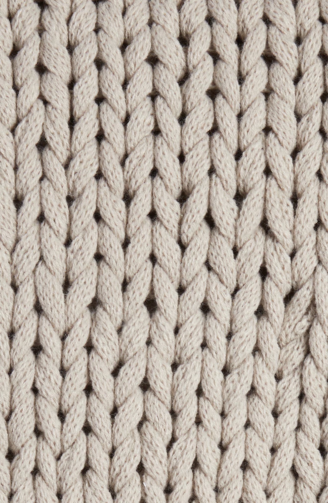 Jersey Rope Throw,                             Alternate thumbnail 2, color,                             Grey Owl