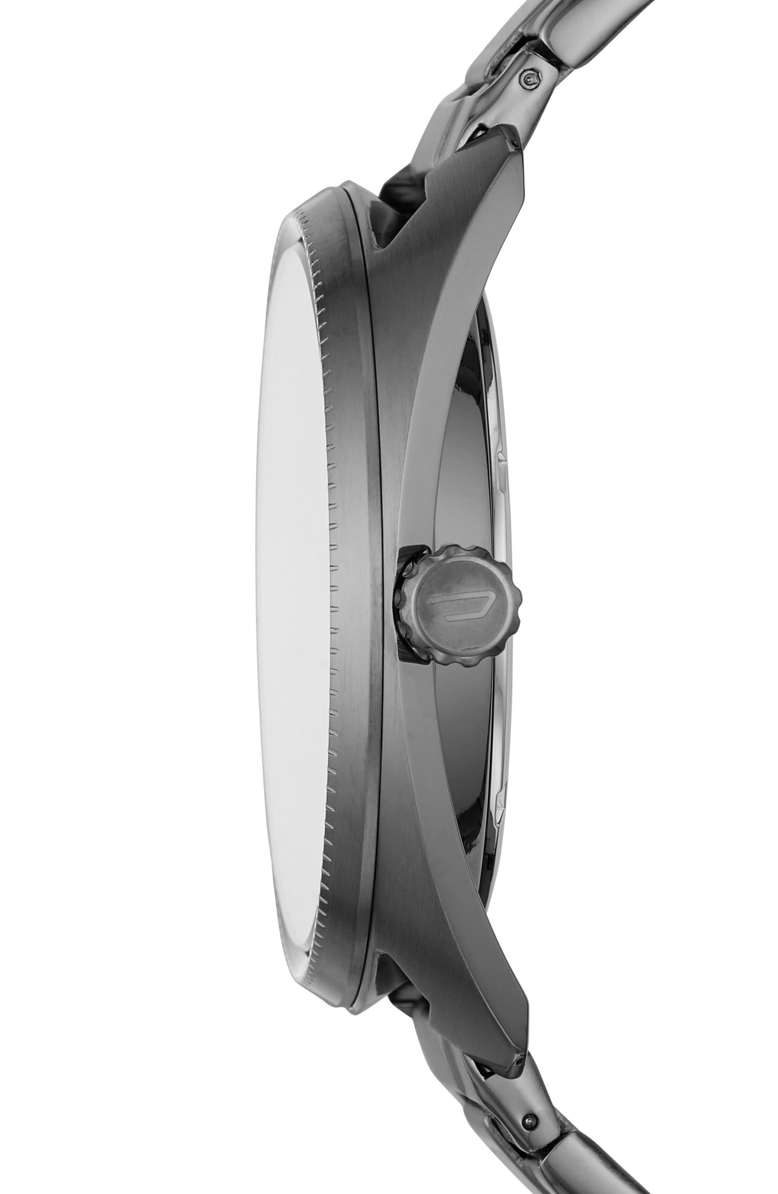 Fastbak Bracelet Watch, 46mm x 52mm,                             Alternate thumbnail 2, color,                             Gunmetal/ Gunmetal
