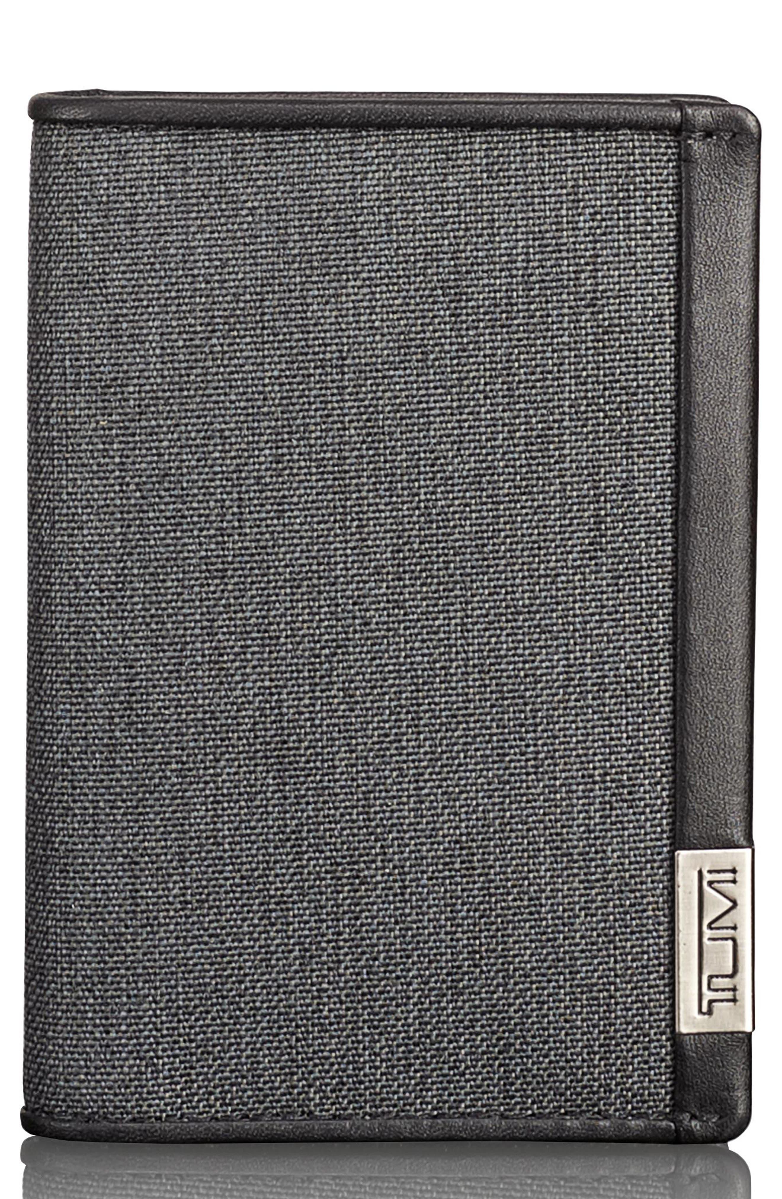 Alpha Folding Card Case,                             Main thumbnail 1, color,                             Anthracite/ Black