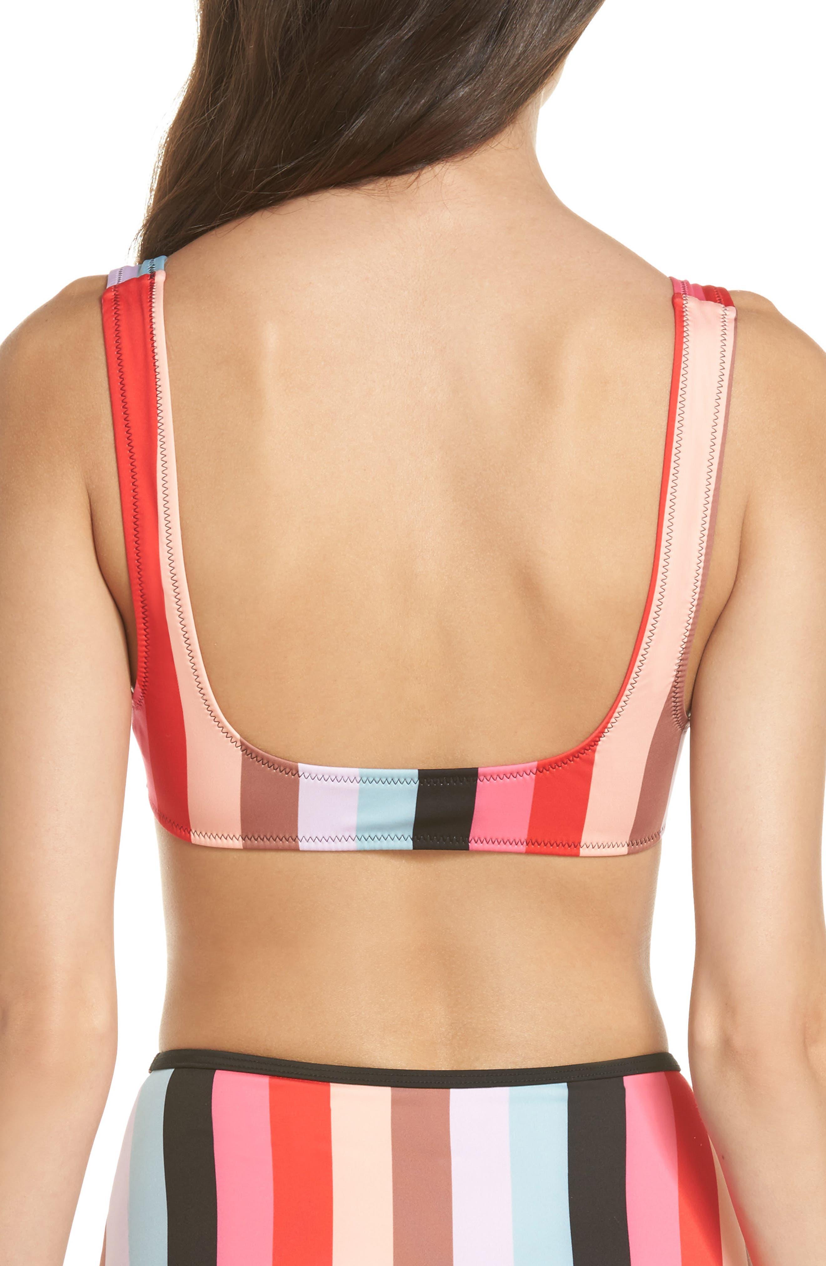 The Elle Bikini Top,                             Alternate thumbnail 2, color,                             Red Multi