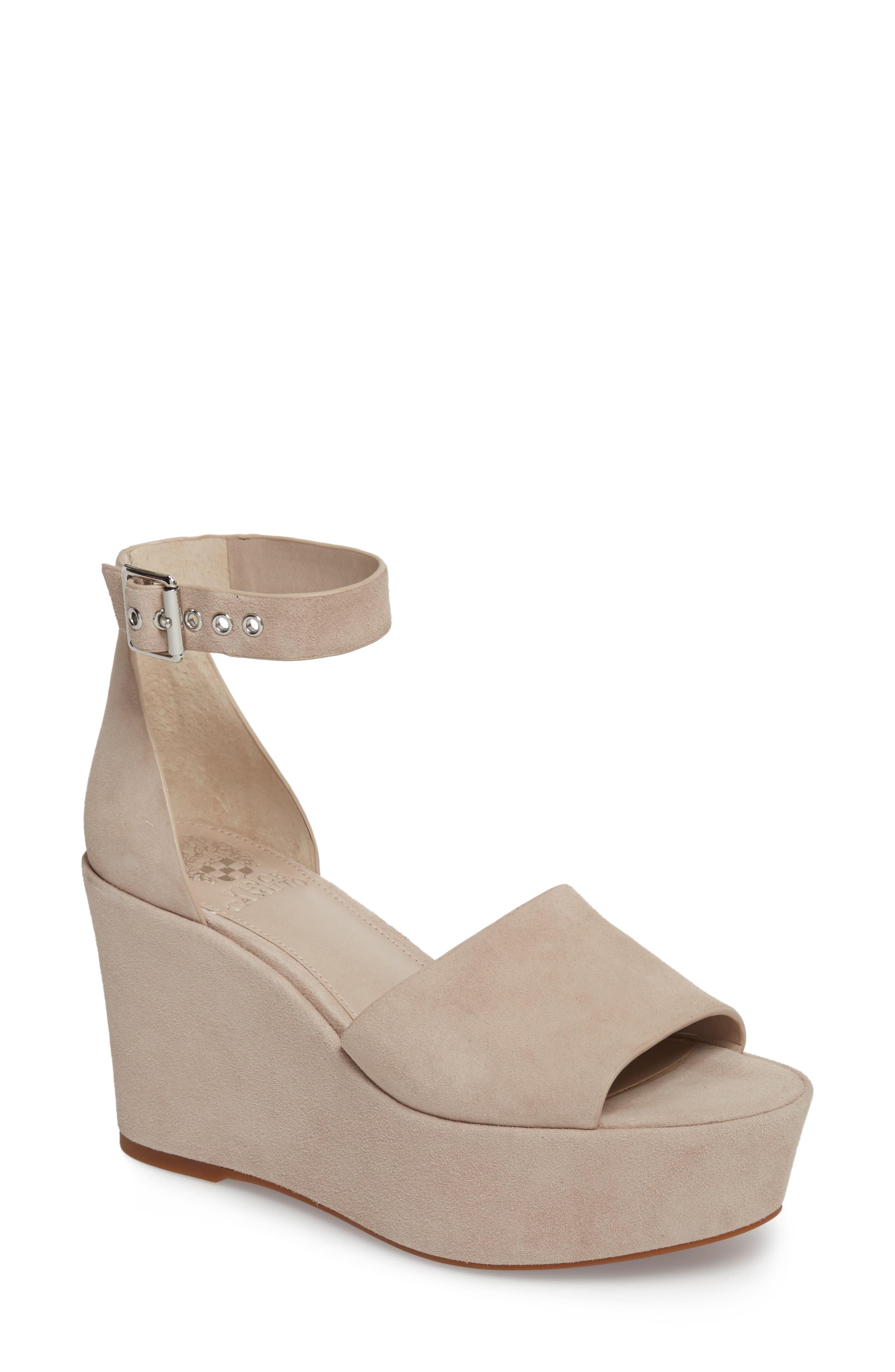 Korista Platform Sandal,                         Main,                         color, Tipsy Taupe Suede