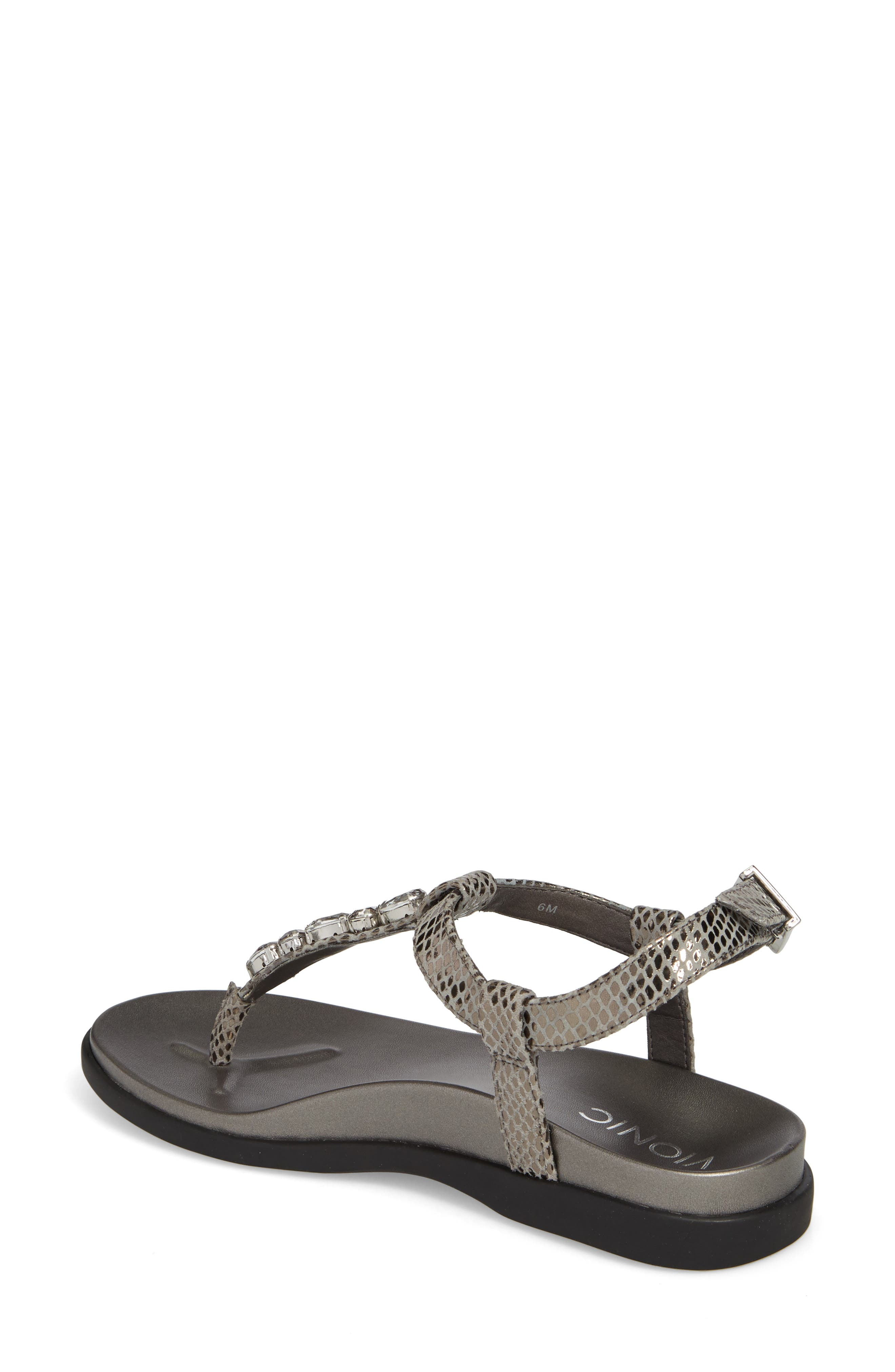 Boca Sandal,                             Alternate thumbnail 2, color,                             Pewter Snake Leather
