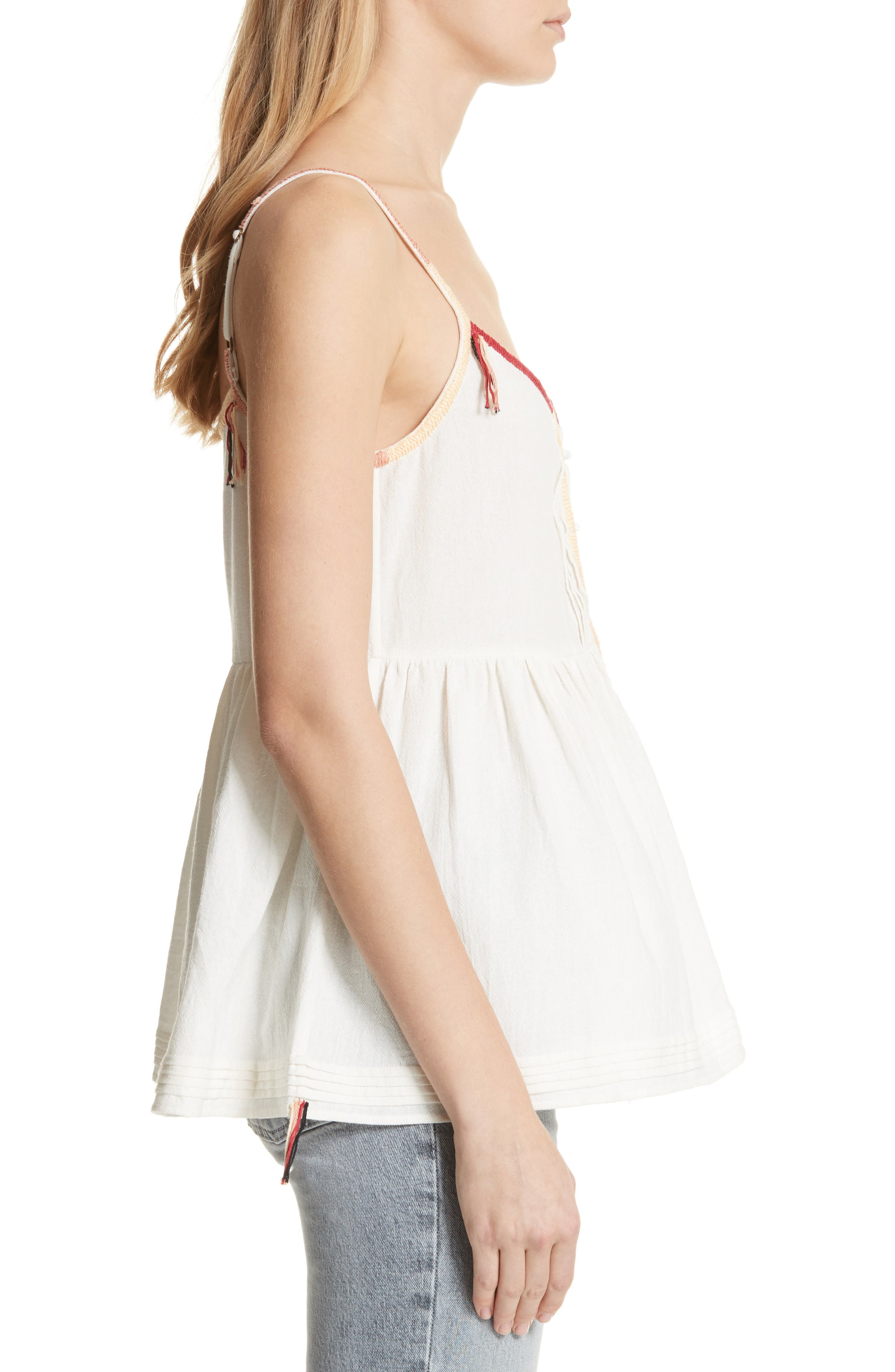 The Adobe Cotton Camisole,                             Alternate thumbnail 3, color,                             Off White