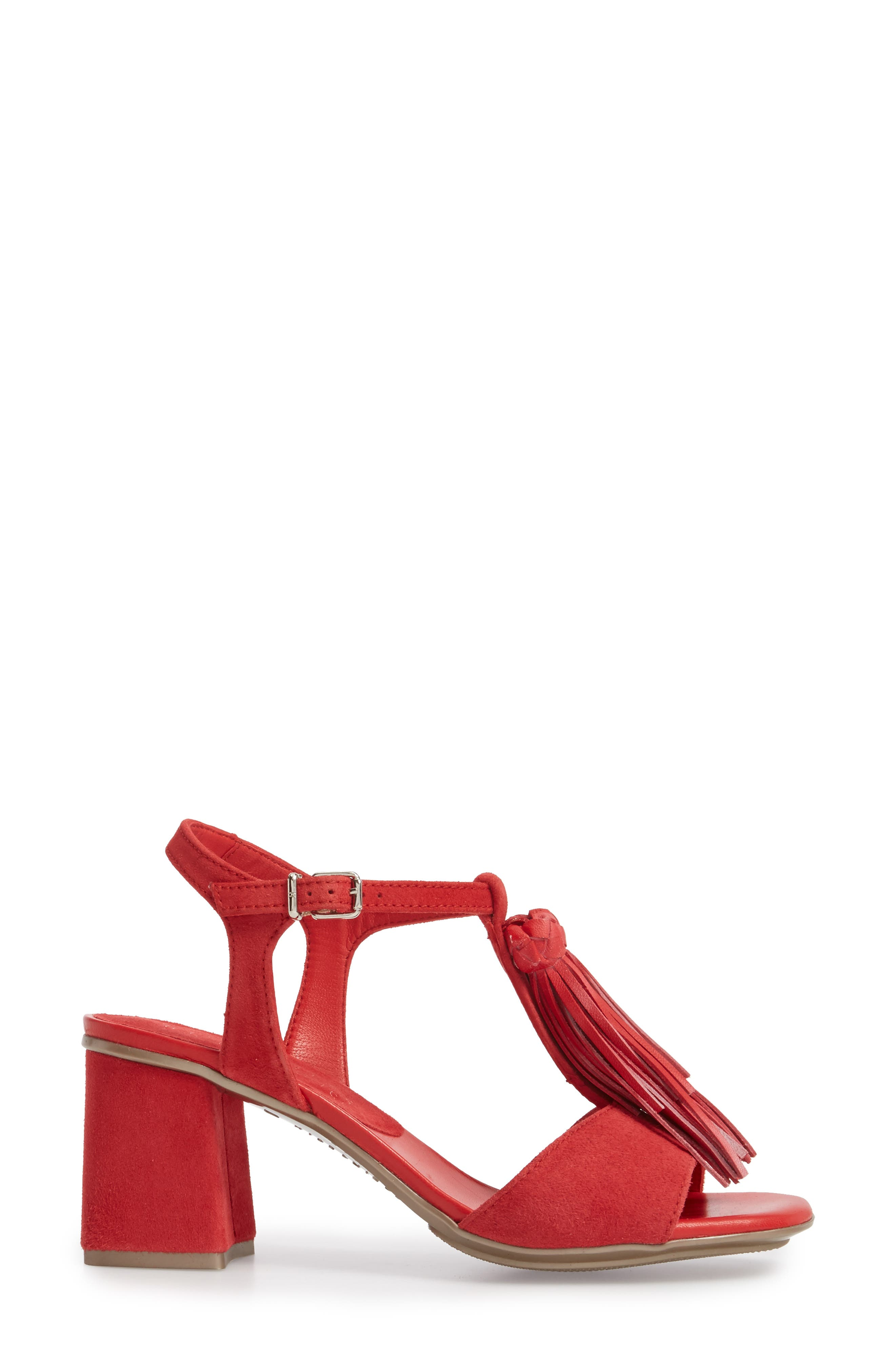 Schulyer T-Strap Sandal,                             Alternate thumbnail 3, color,                             Rubi Leather