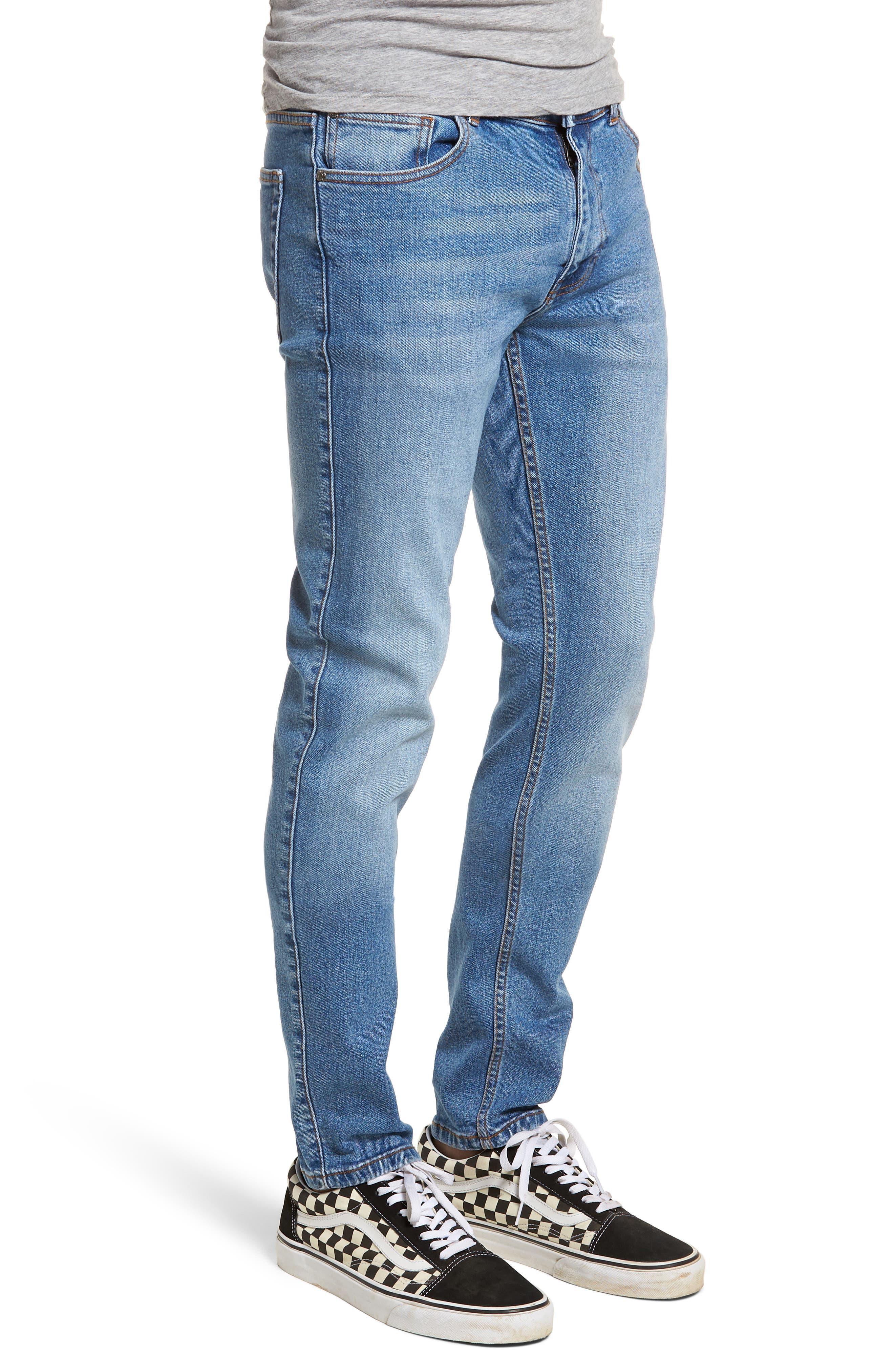 Clark Slim Straight Leg Jeans,                             Alternate thumbnail 3, color,                             Shaded Mid Blue