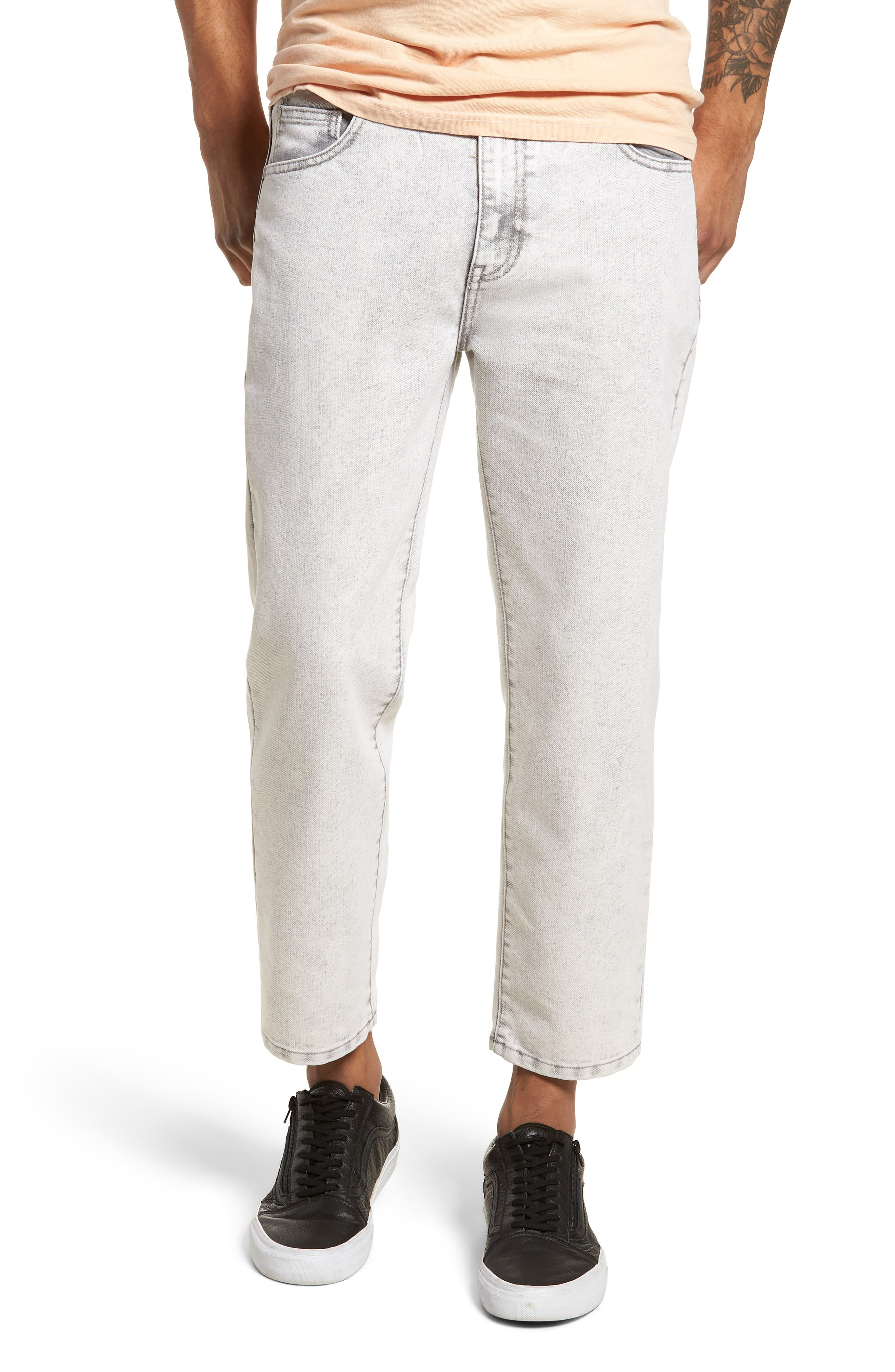 Dr. Denim Jeansmaker Otis Straight Fit Jeans,                         Main,                         color, Dirty White