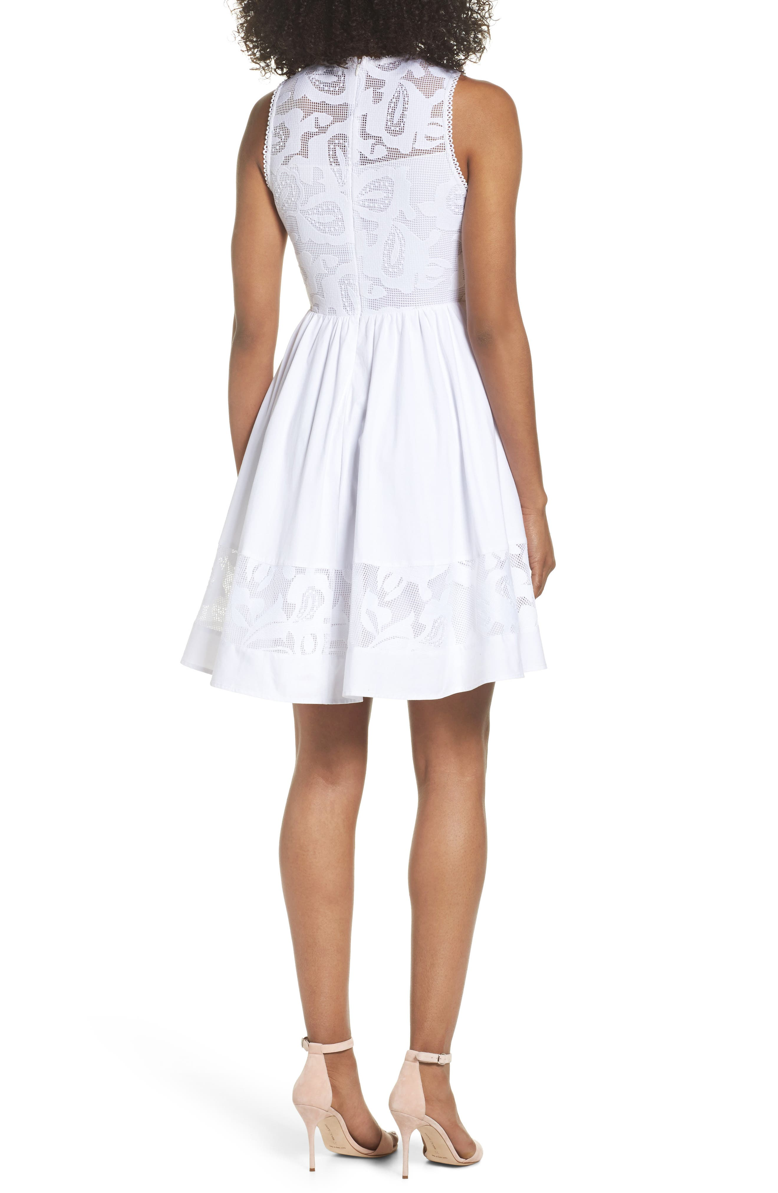 Alternate Image 2  - Chelsea28 Lace Fit & Flare Dress