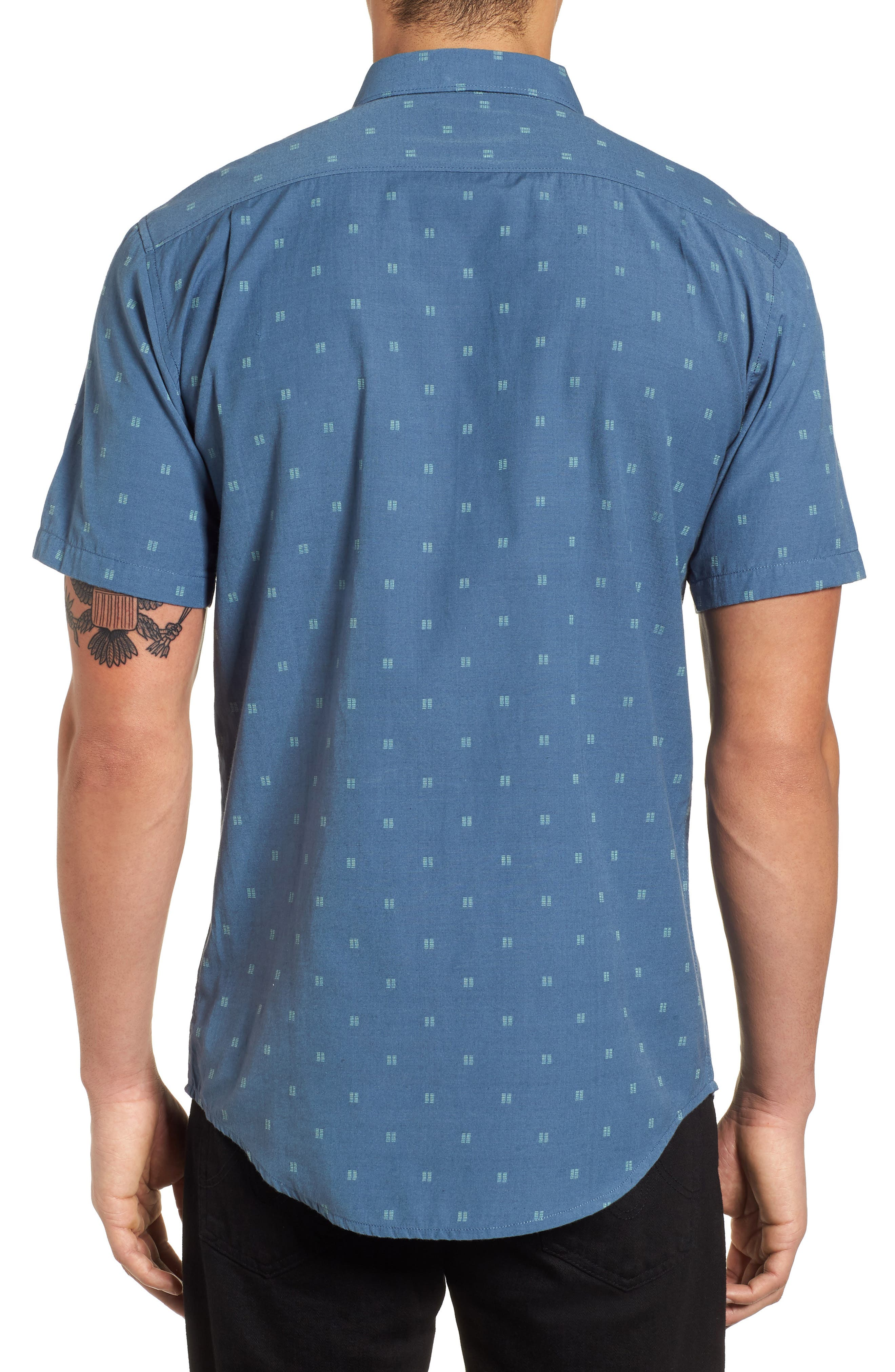 All Day Jacquard Shirt,                             Alternate thumbnail 3, color,                             Deep Blue