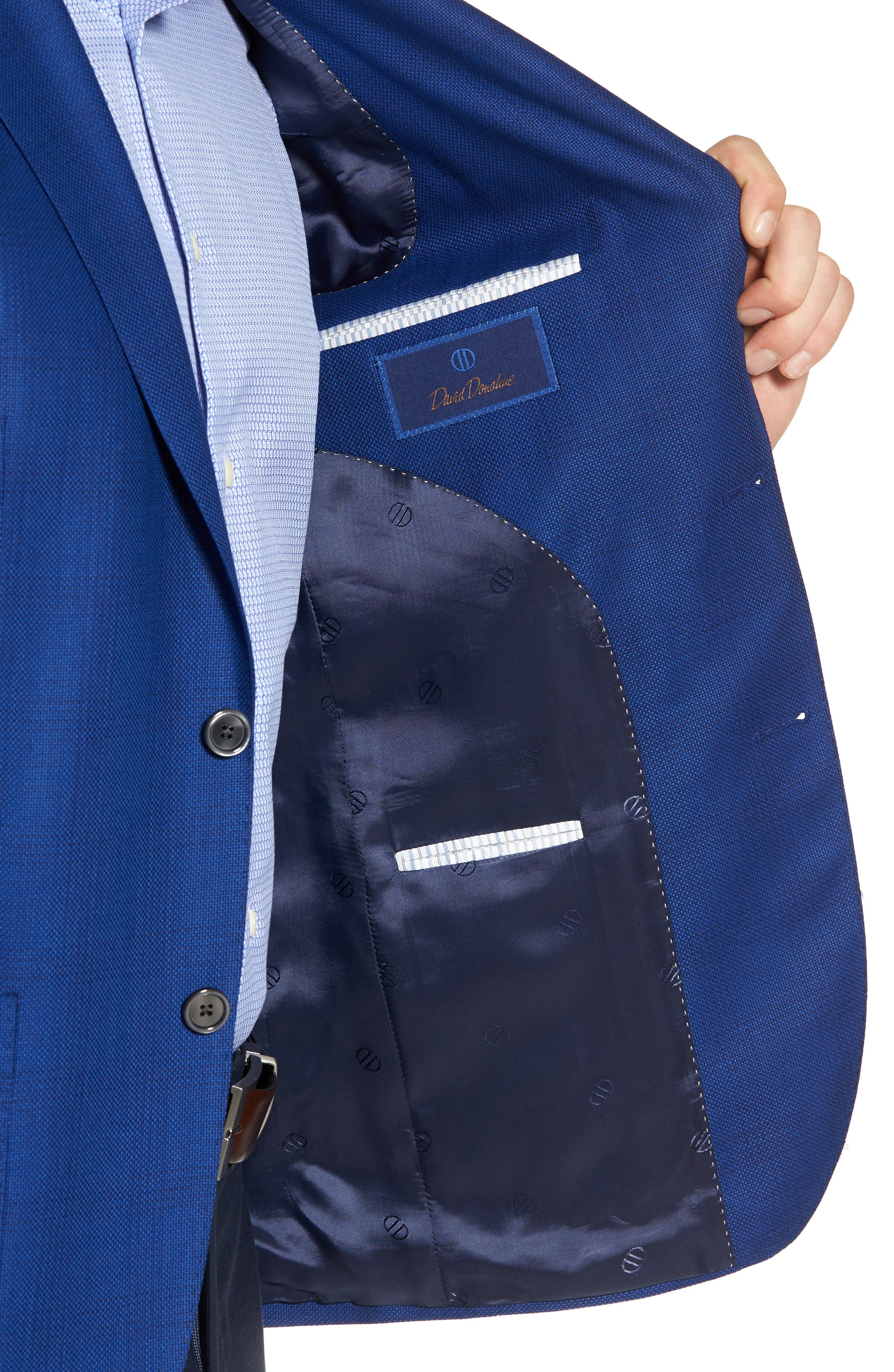 Aiden Classic Fit Sport Coat,                             Alternate thumbnail 4, color,                             Medium Blue