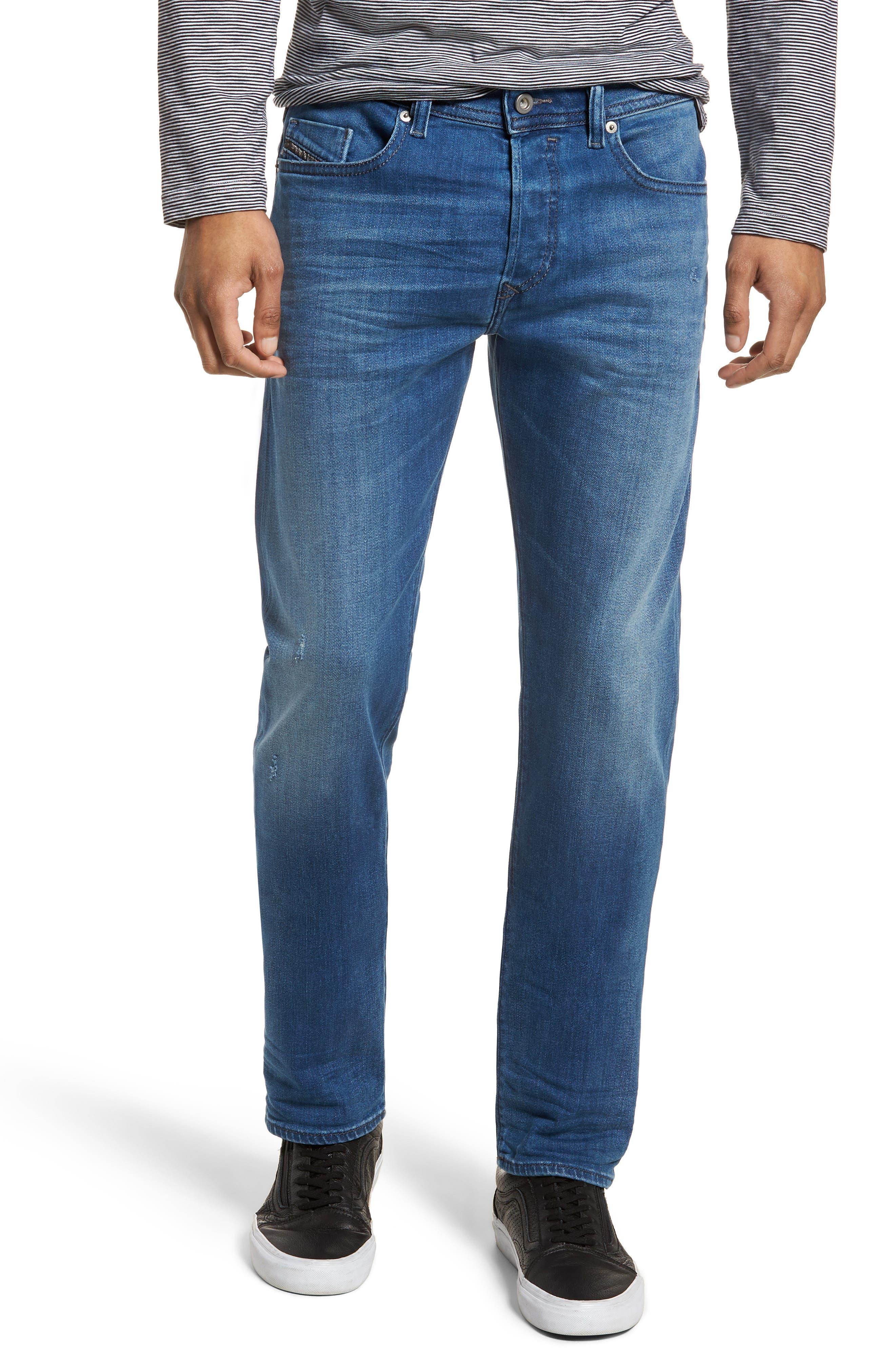 DIESEL® Buster Slim Straight Leg Jeans (084QQ)