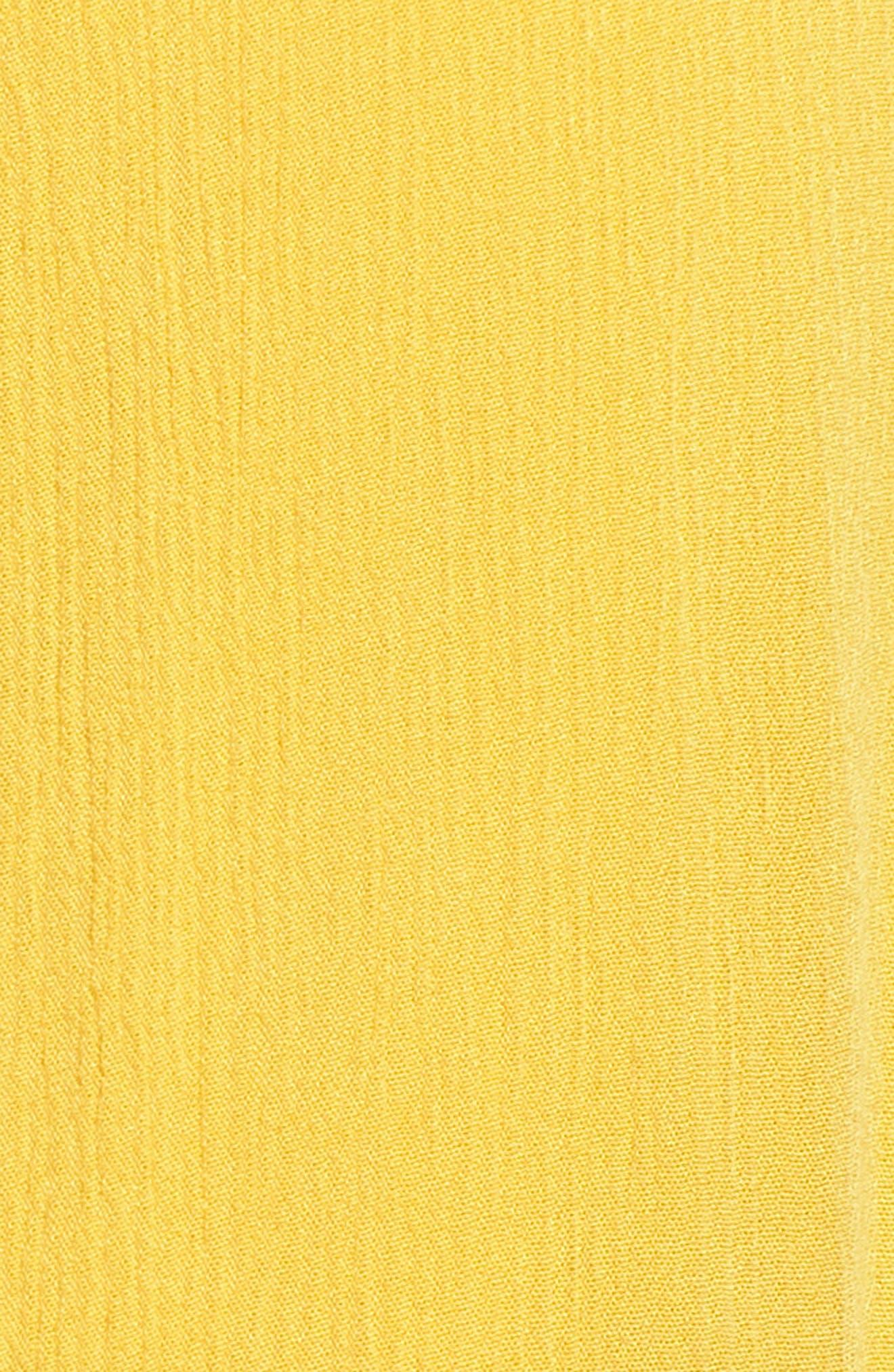 Slit Front Crochet Inset Maxi Skirt,                             Alternate thumbnail 6, color,                             Yellow Sulphur