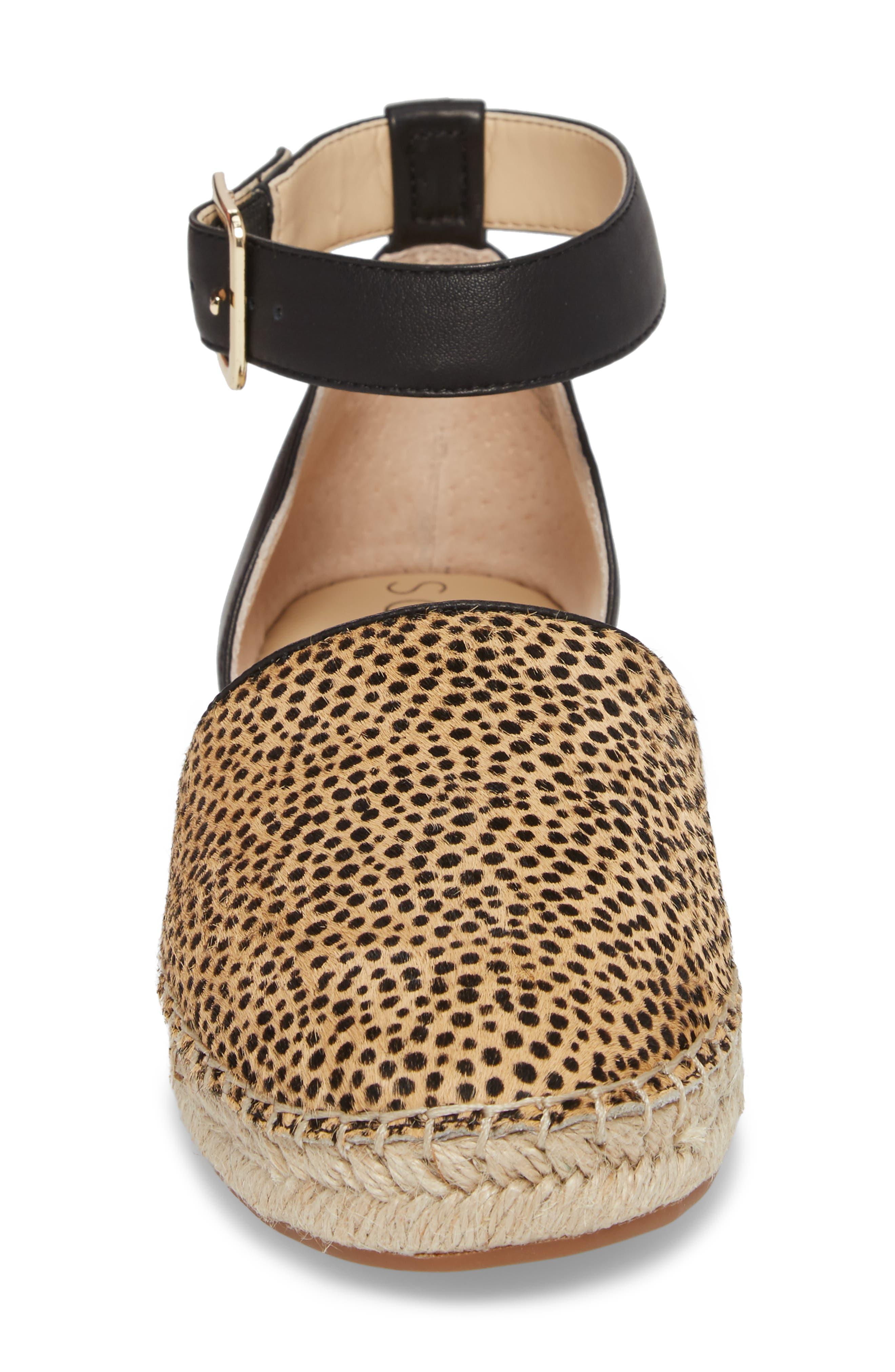 Stacie Genuine Calf Hair Espadrille Sandal,                             Alternate thumbnail 4, color,                             Dotted Haircalf