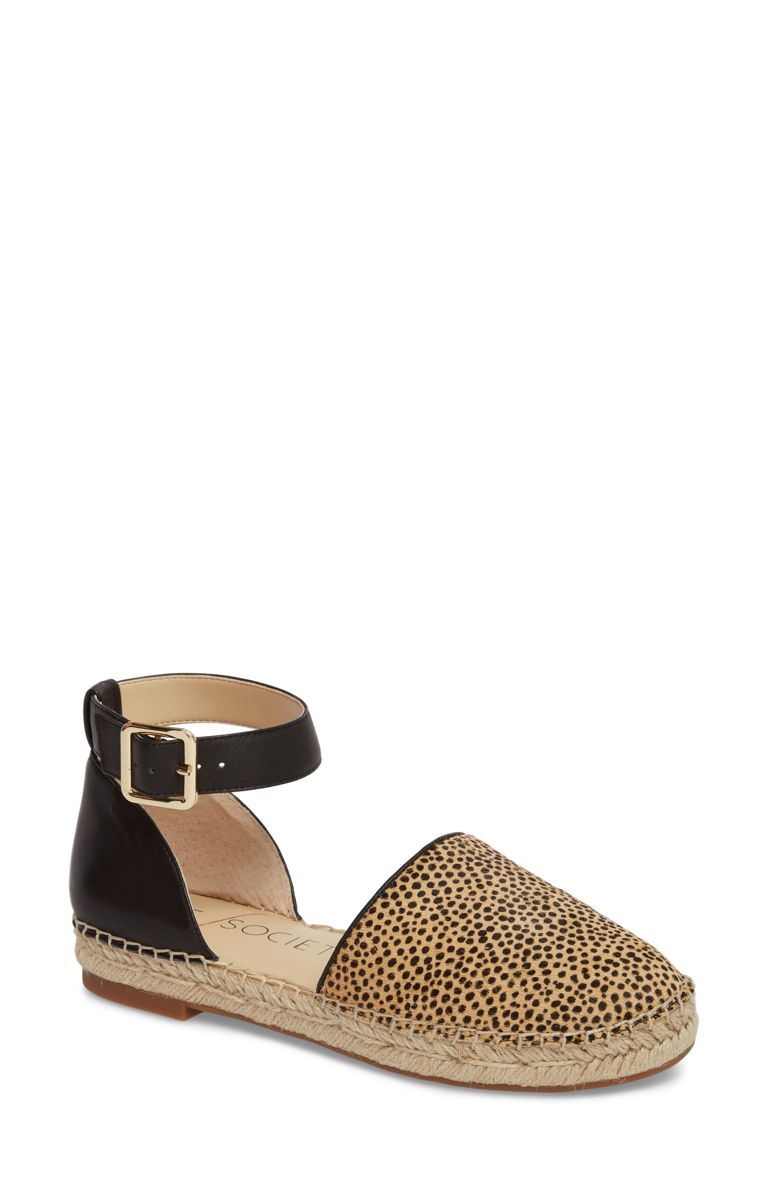 Sole Society Stacie Genuine Calf Hair Espadrille Sandal (Women)