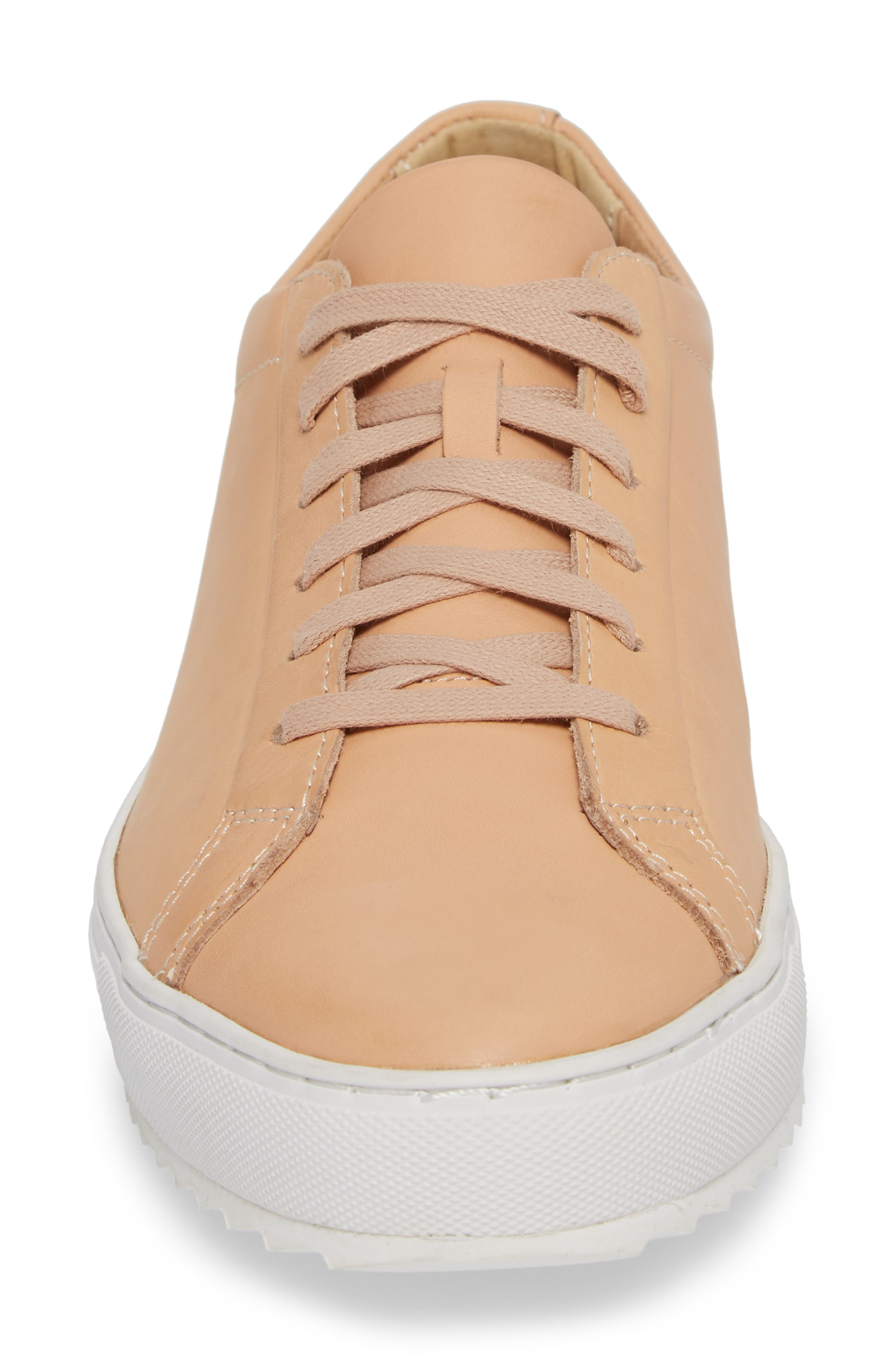 Kennedy Lugged Sneaker,                             Alternate thumbnail 4, color,                             Natural Leather