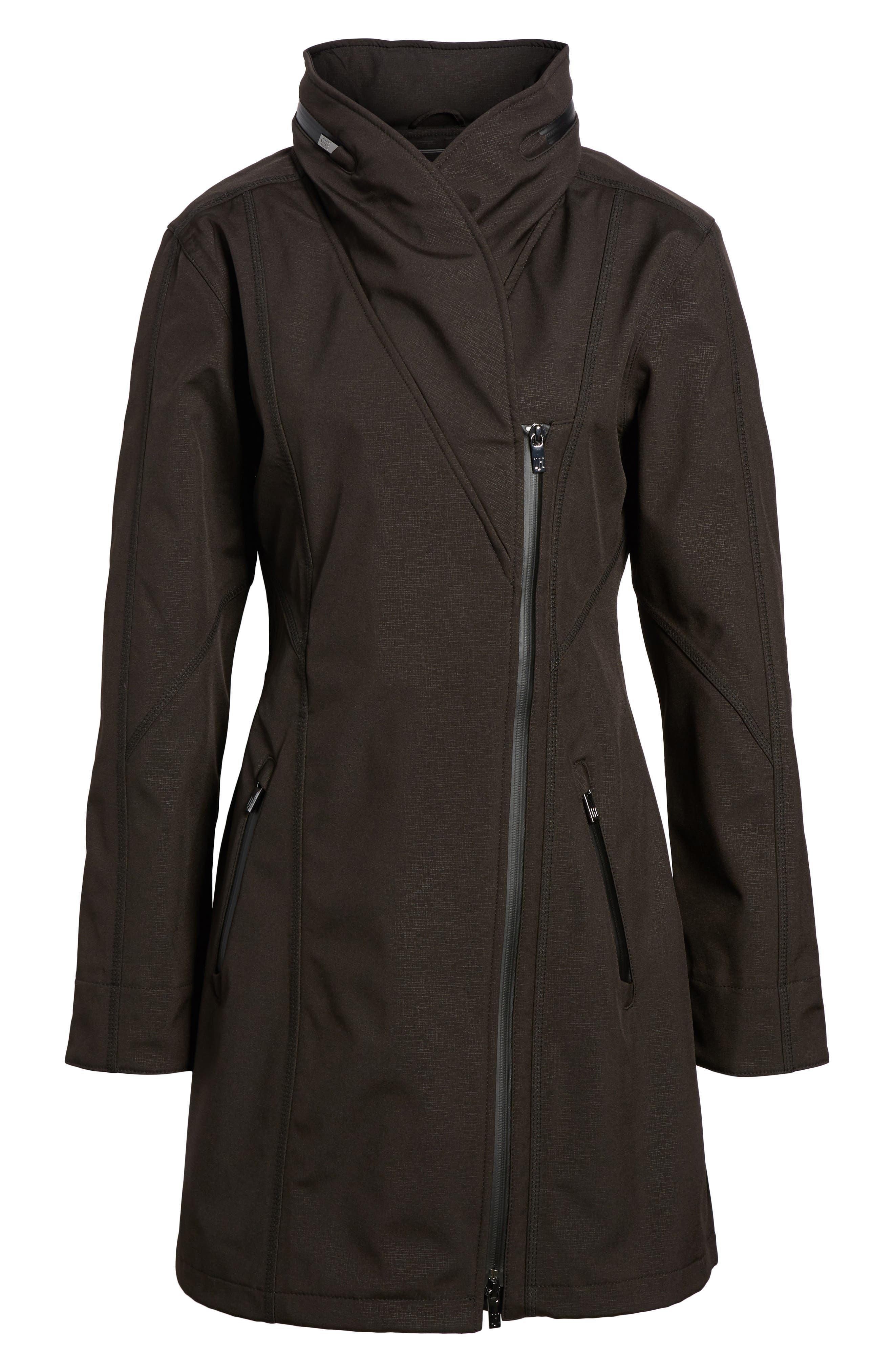 Hornbaek Soft Shell Raincoat,                             Alternate thumbnail 7, color,                             Black