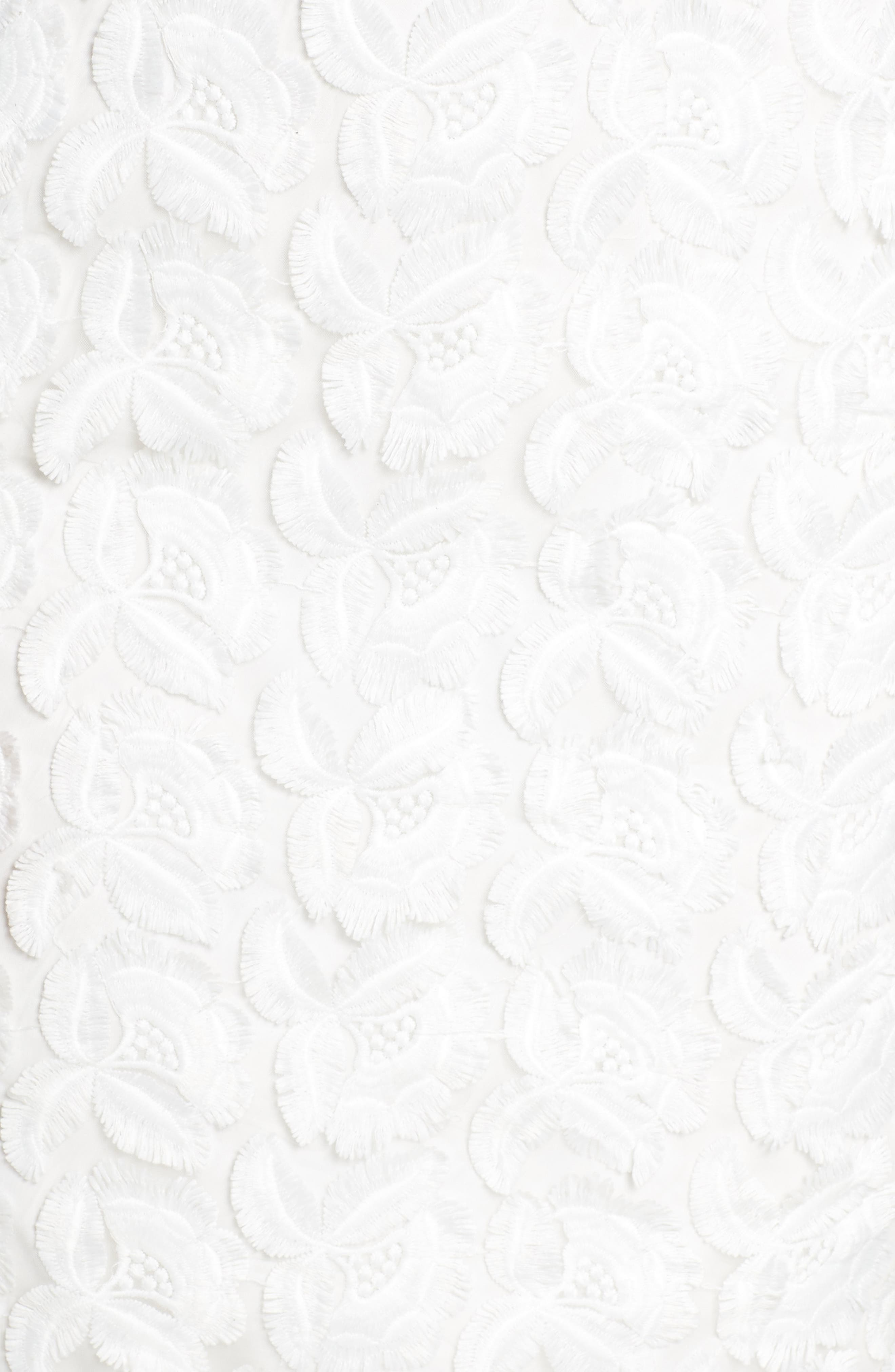 Floral Mirage Embroidered Lace Dress,                             Alternate thumbnail 5, color,                             Gardenia