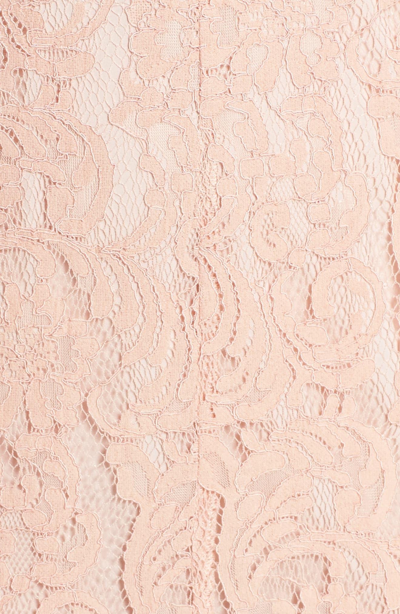 Hushed Dove Lace Dress,                             Alternate thumbnail 5, color,                             Rose Cloud