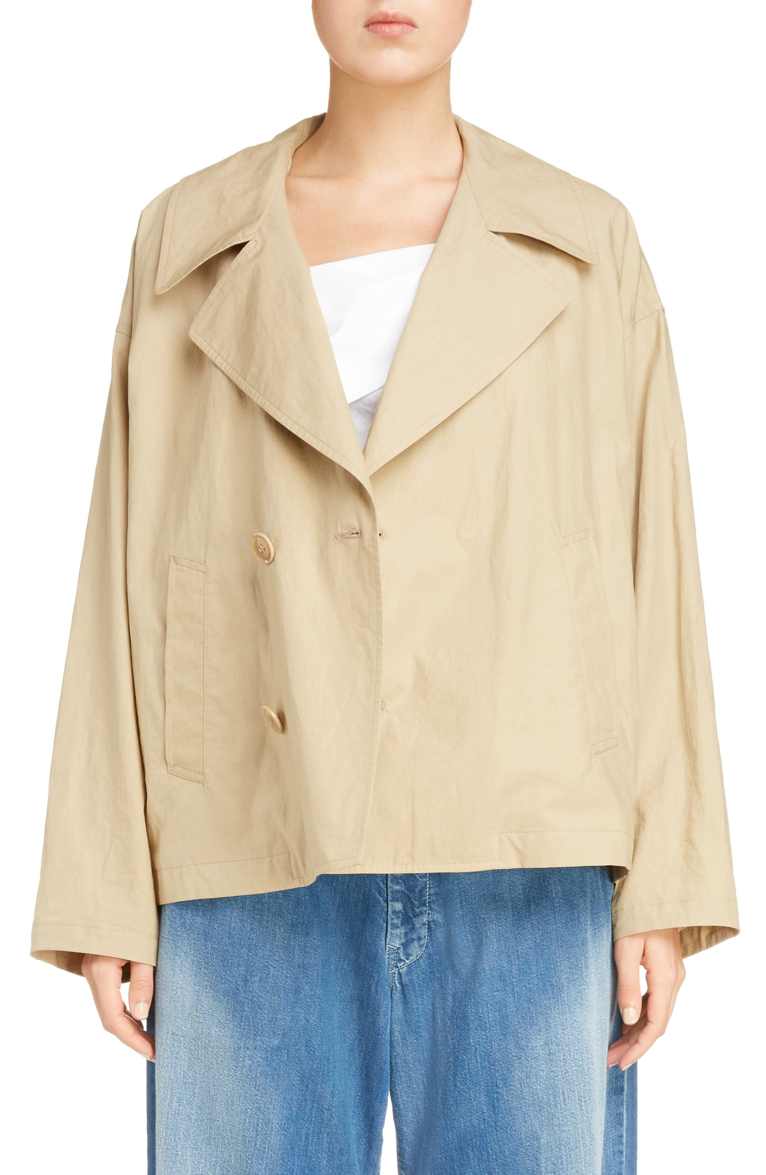 Y's by Yohji Yamamoto Large Lapel Cotton & Linen Blazer