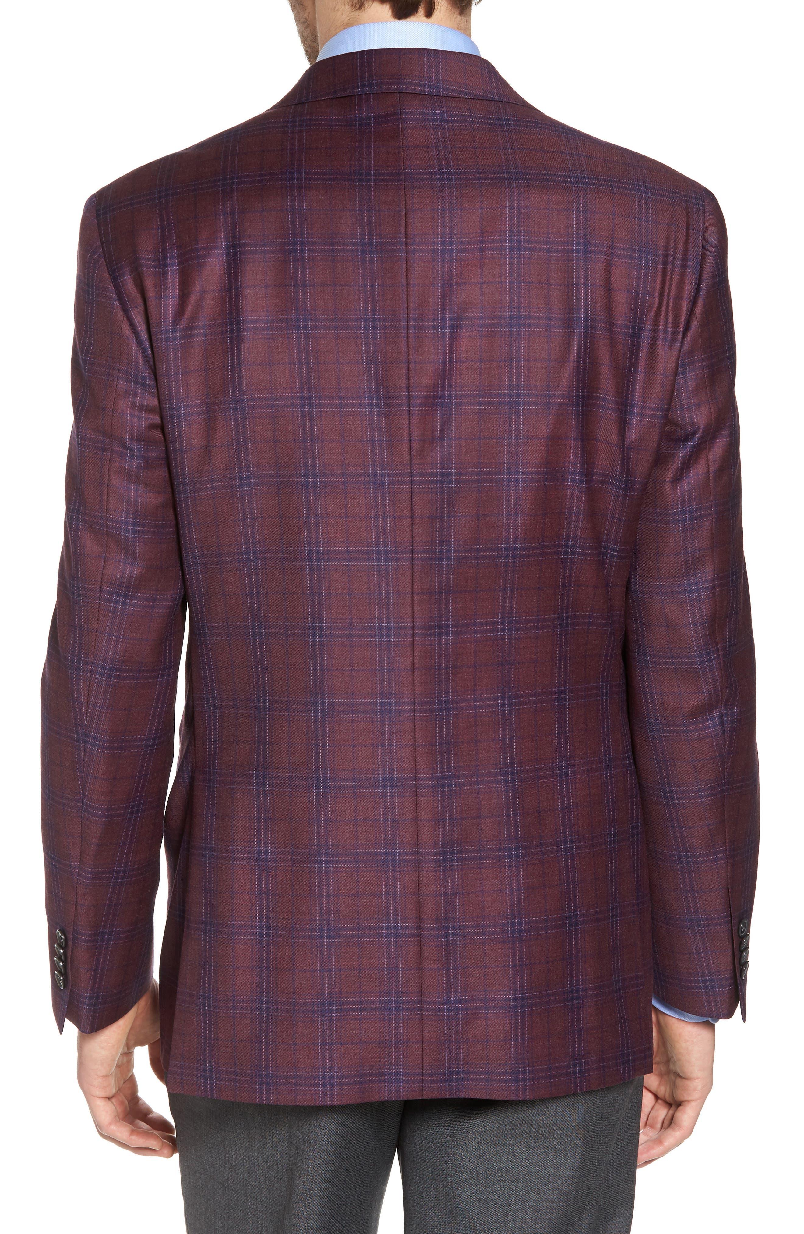 Alternate Image 2  - David Donahue Connor Classic Fit Plaid Wool Sport Coat