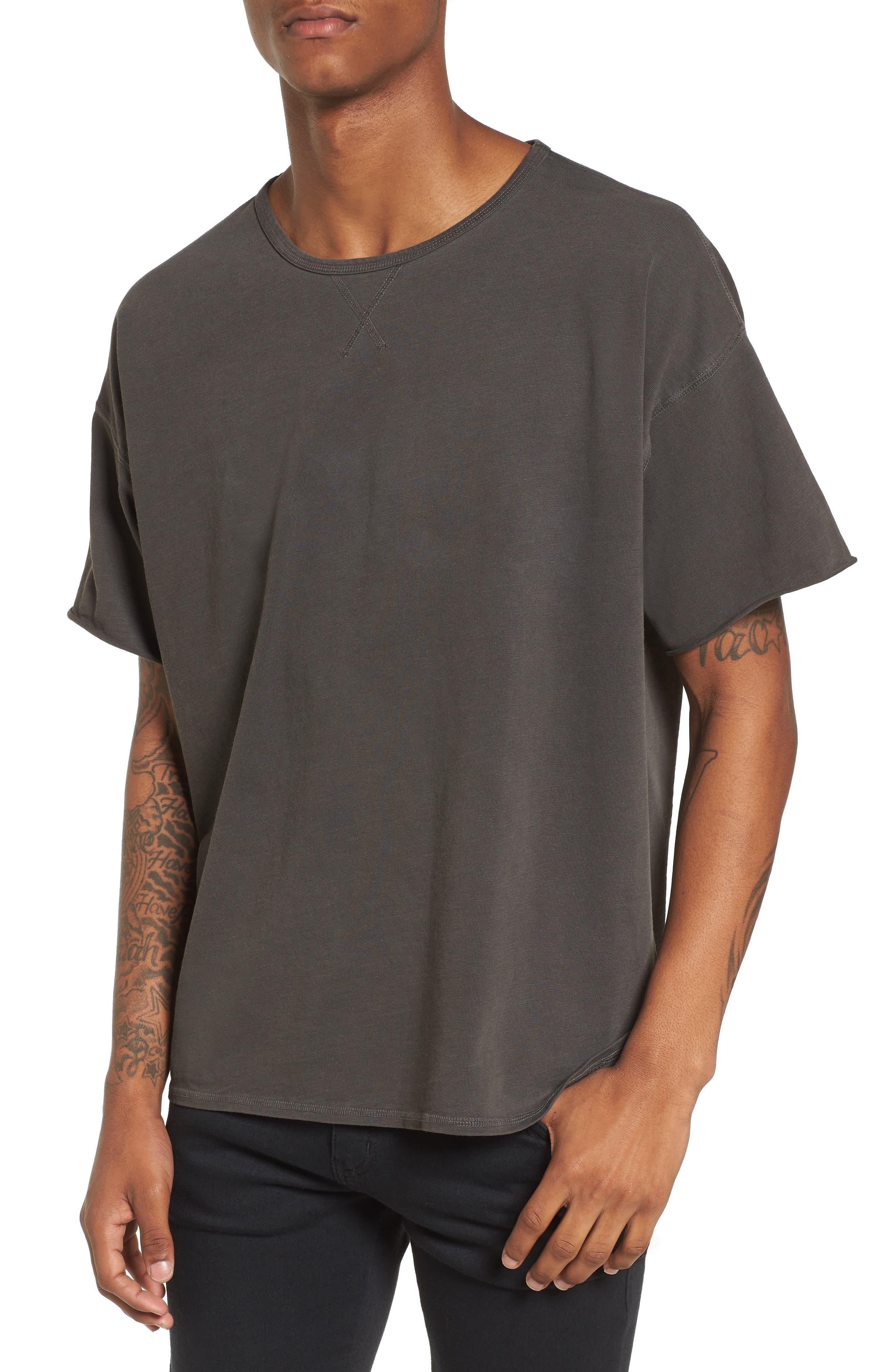 Slub T-Shirt,                         Main,                         color, Grey Onyx