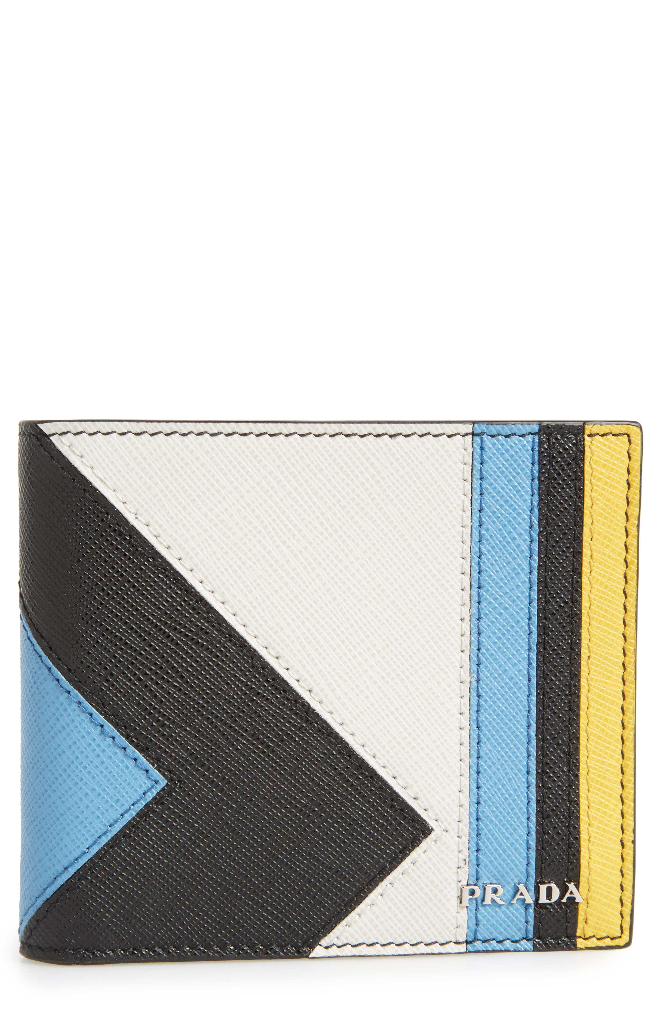 Alternate Image 1 Selected - Prada Arrow Calfskin Leather Wallet