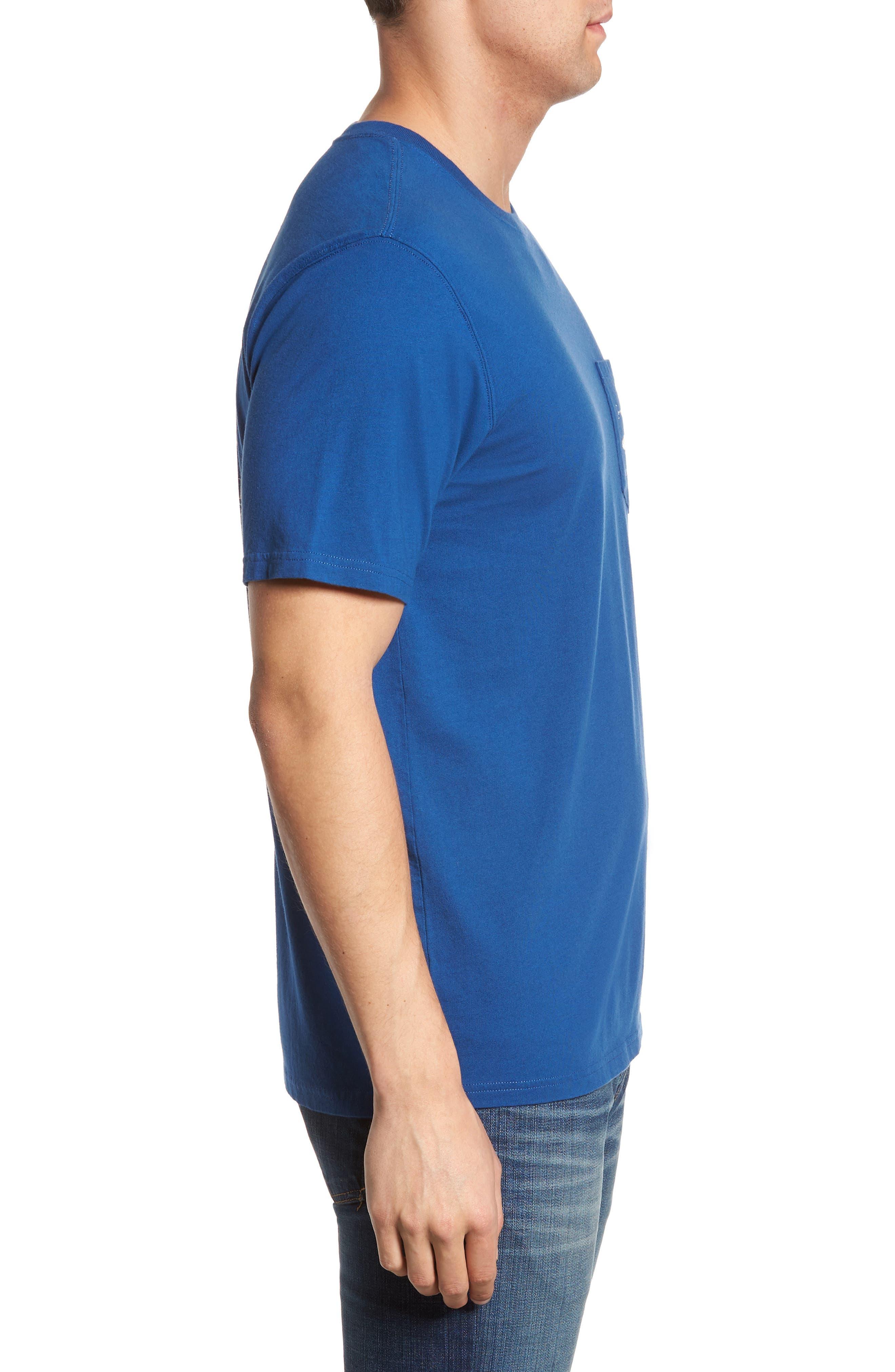 Hanging Out Regular Fit T-Shirt,                             Alternate thumbnail 3, color,                             Blue Lake
