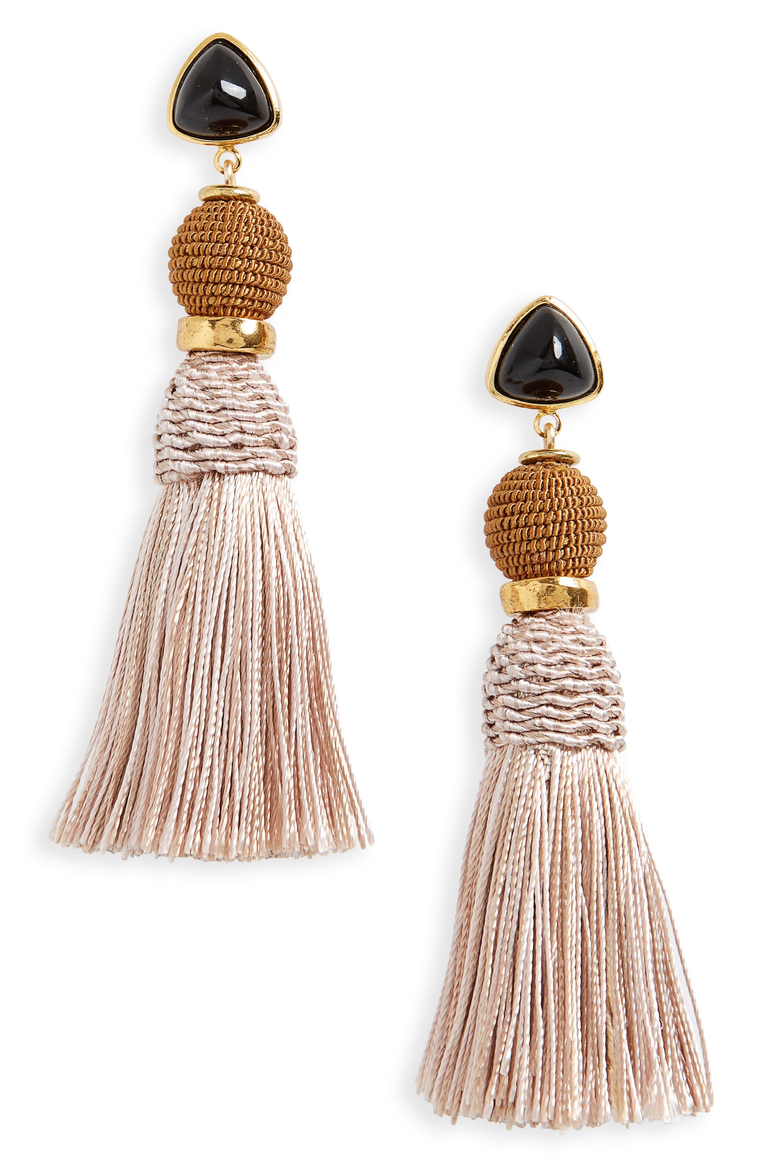 Lizzie Fortunato Modern Craft Tassel Drop Earrings