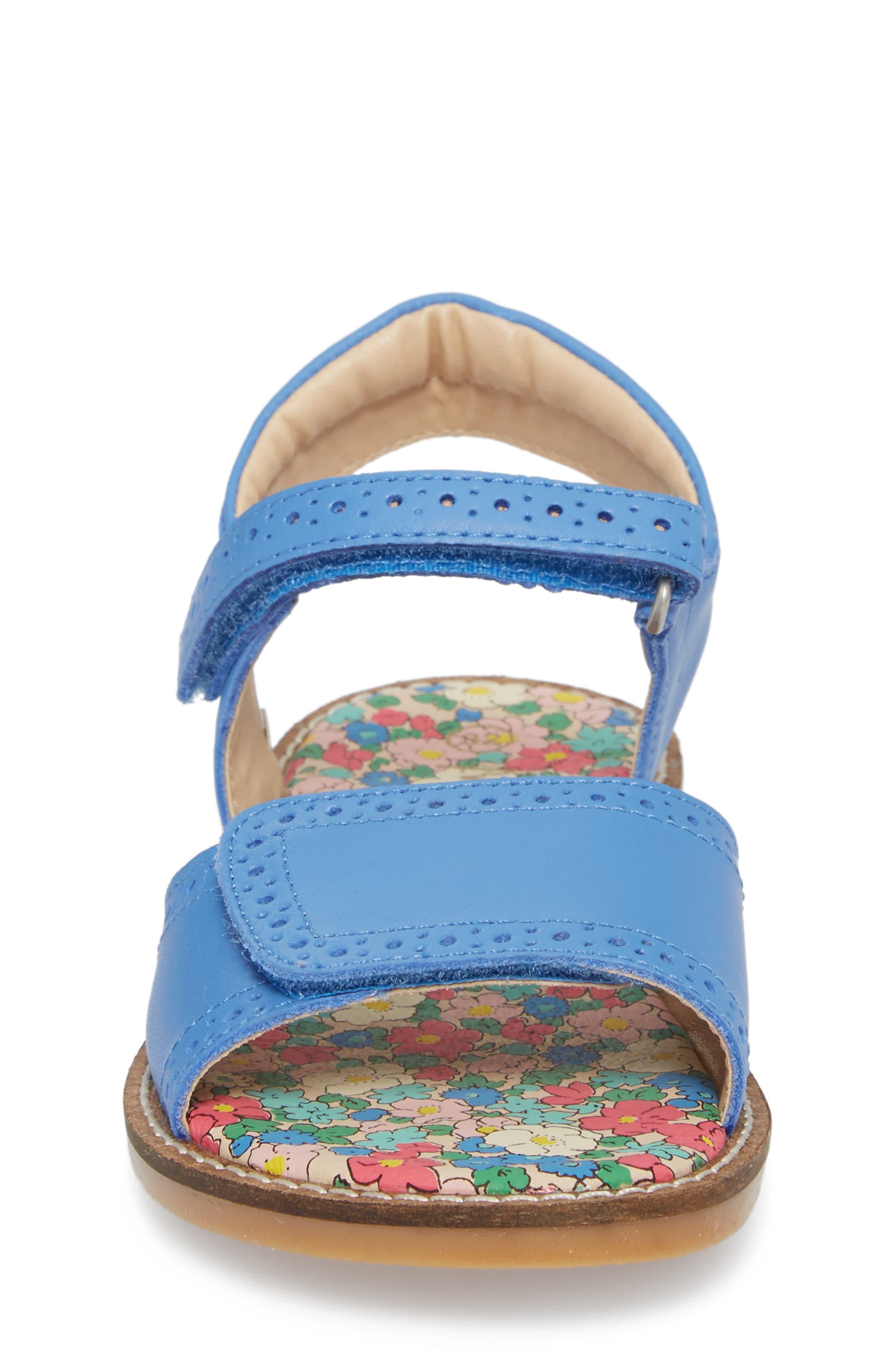 Adjustable Quarter Strap Sandal,                             Alternate thumbnail 4, color,                             Penzance Blue