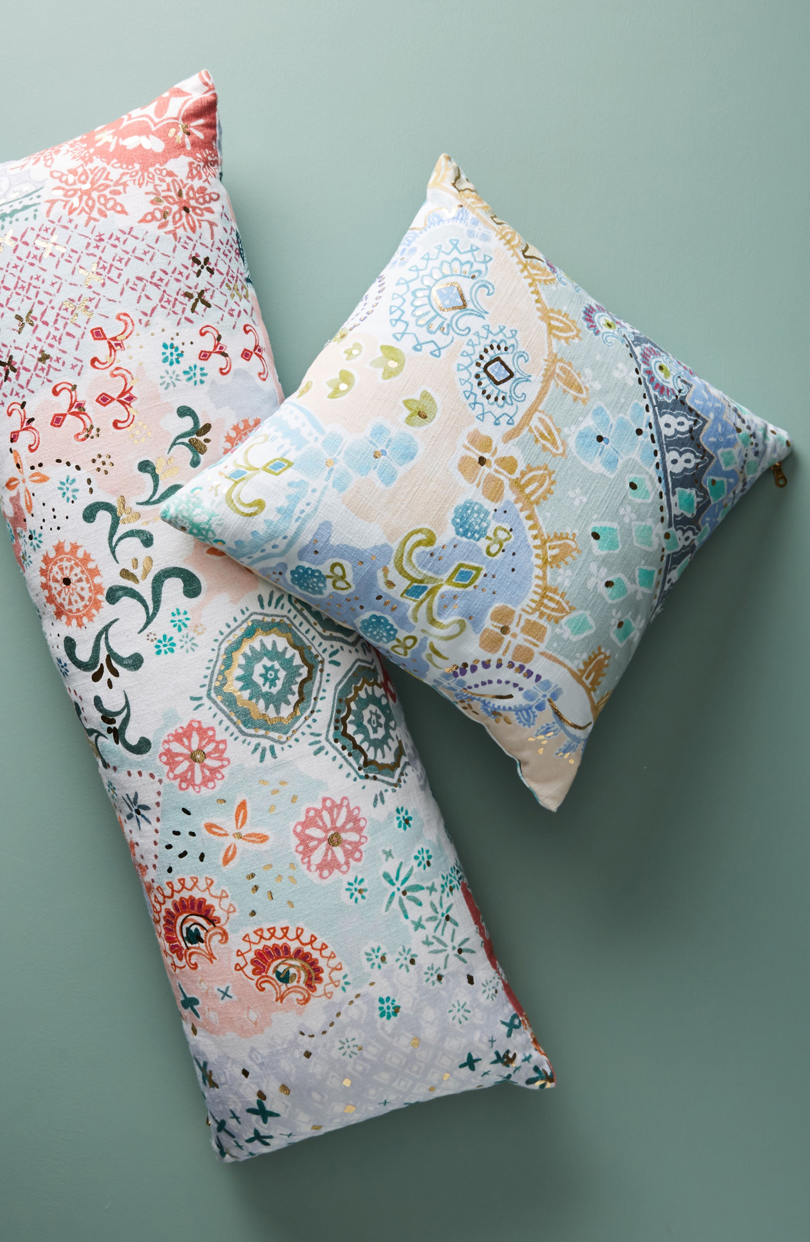 Clarence Accent Pillow,                             Alternate thumbnail 4, color,                             Blue Combo