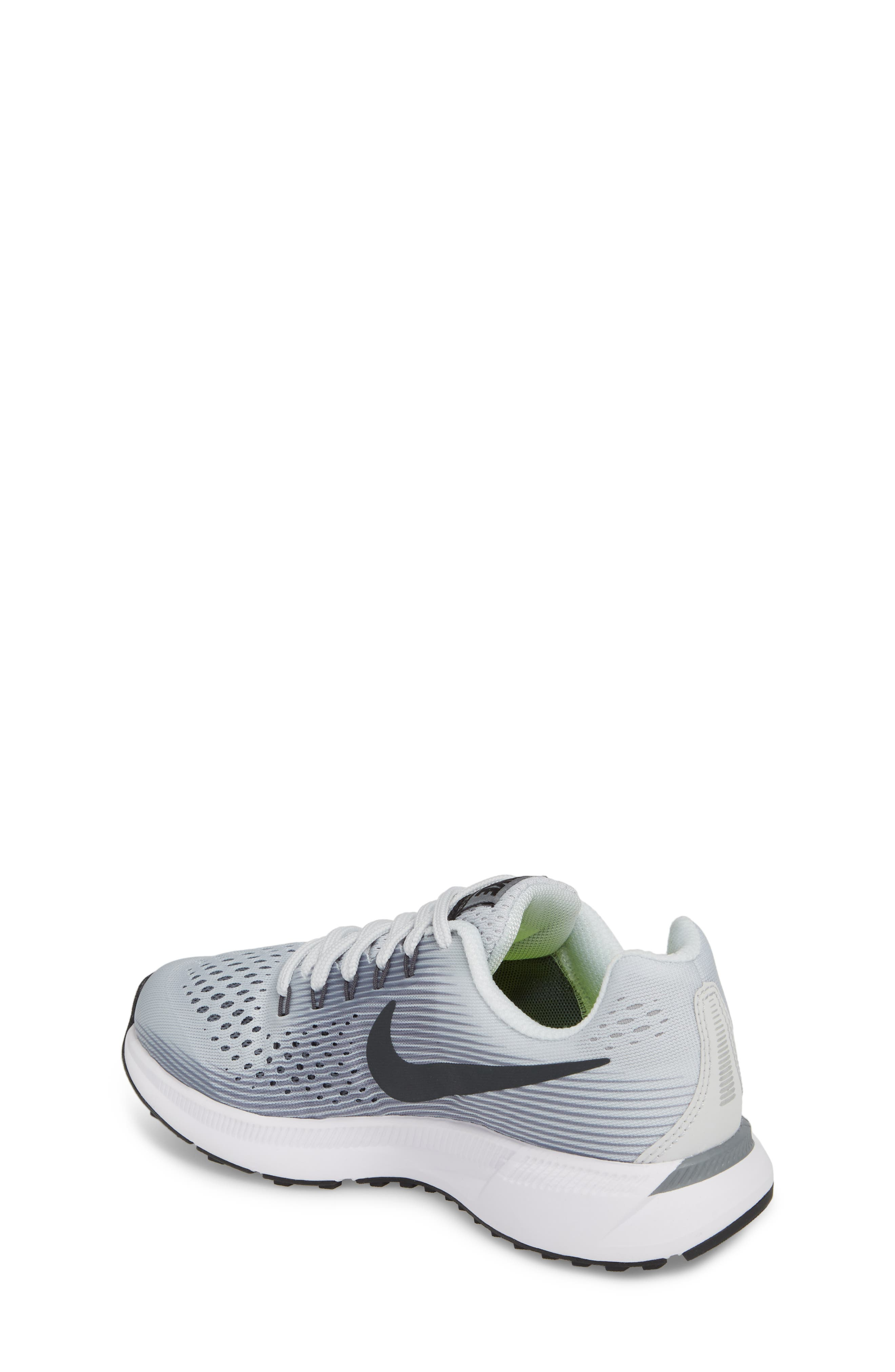 Zoom Pegasus 34 Sneaker,                             Alternate thumbnail 2, color,                             Platinum/ Anthracite/ Grey