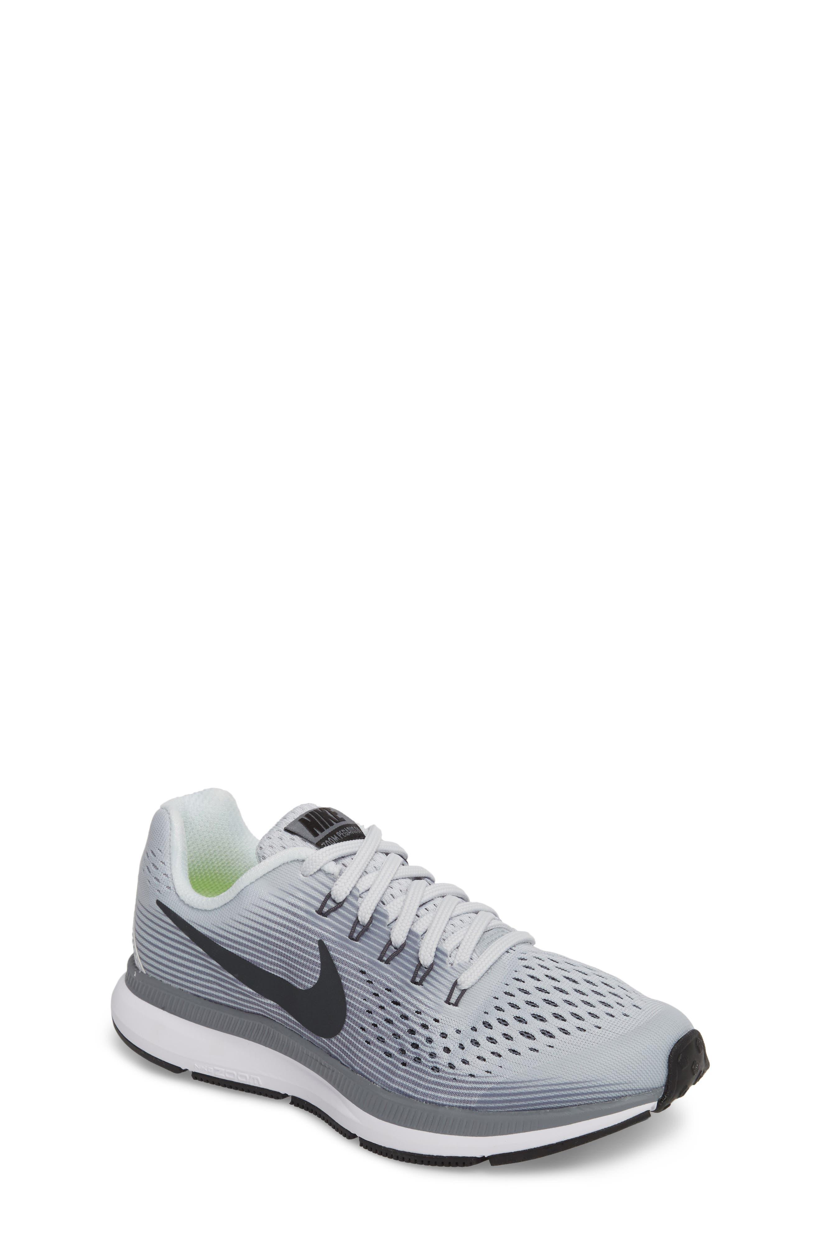 Zoom Pegasus 34 Sneaker,                             Main thumbnail 1, color,                             Platinum/ Anthracite/ Grey