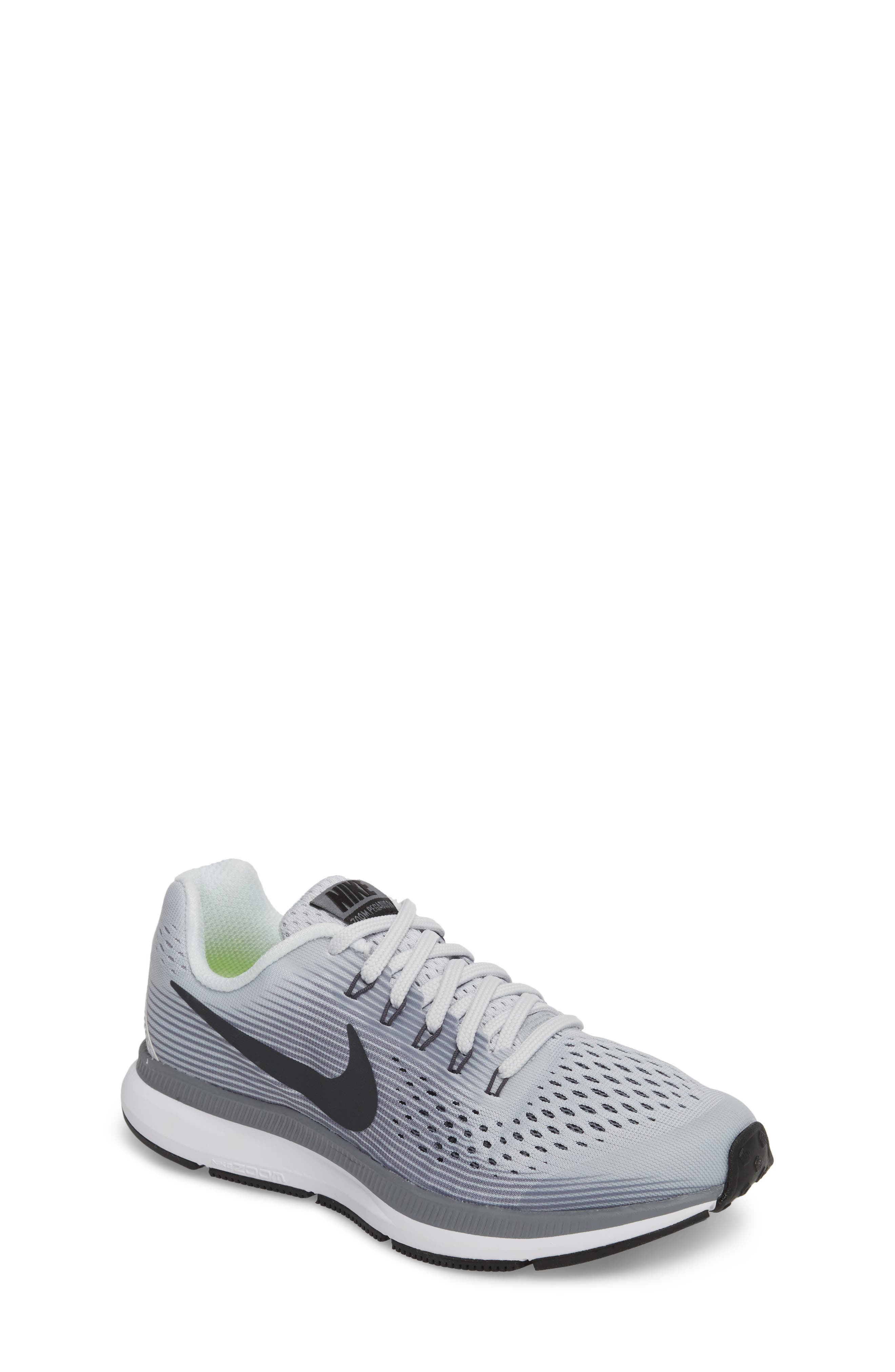 Zoom Pegasus 34 Sneaker,                         Main,                         color, Platinum/ Anthracite/ Grey