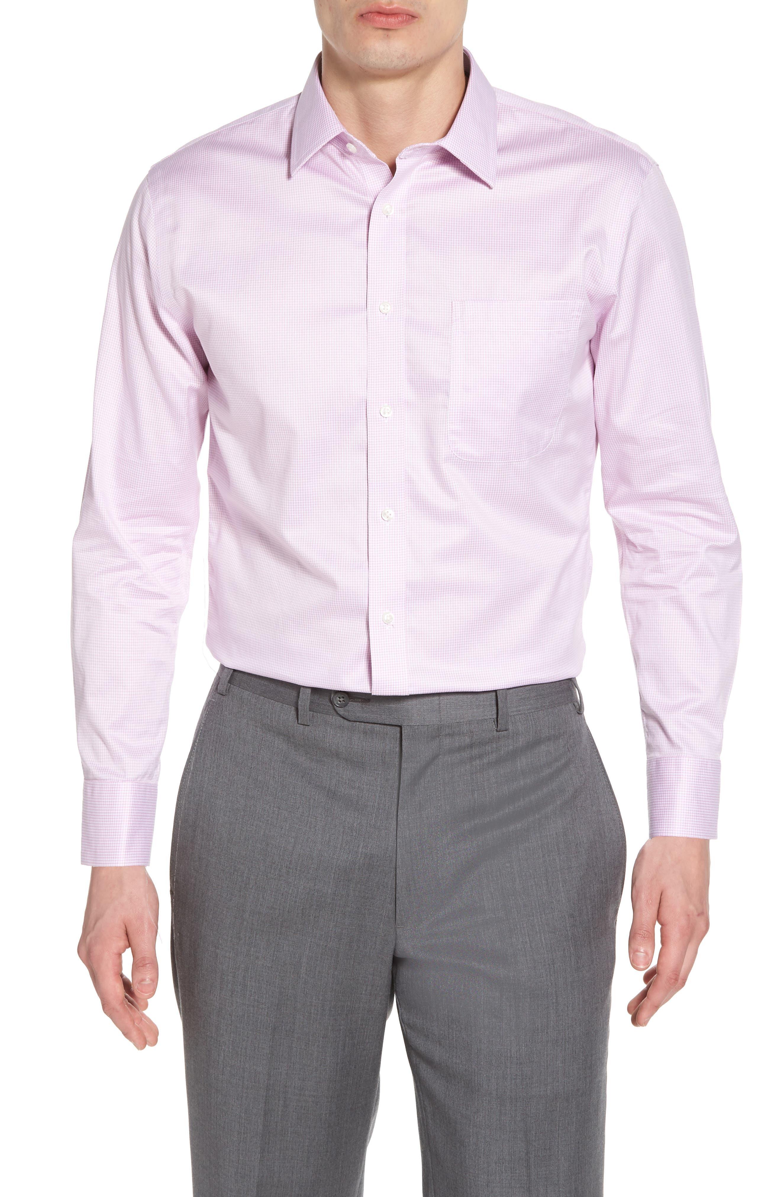 Smartcare<sup>™</sup> Trim Fit Stripe Dress Shirt,                         Main,                         color, Pink Pastel