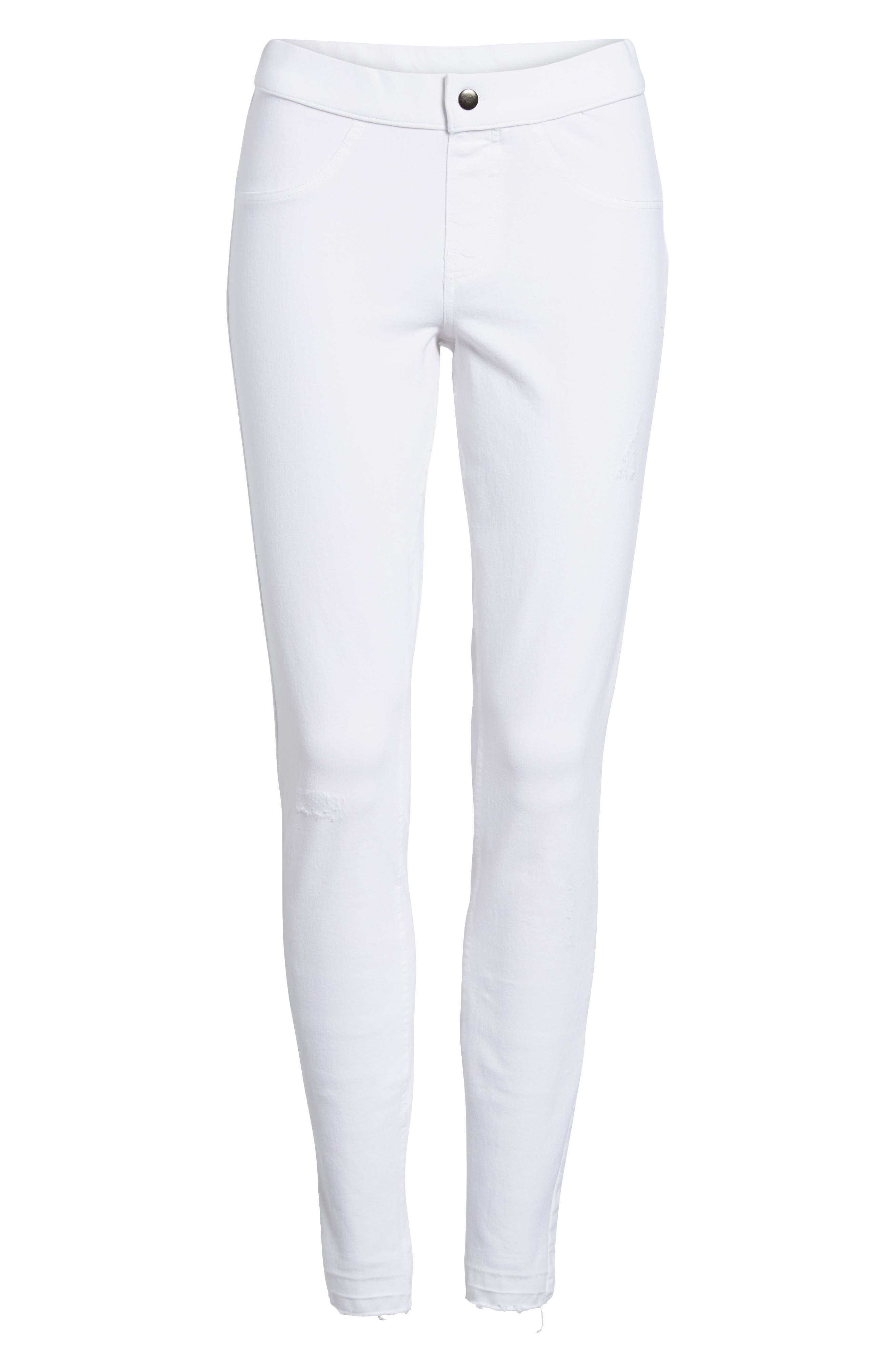 Selvedge Edge Denim Leggings,                         Main,                         color, White