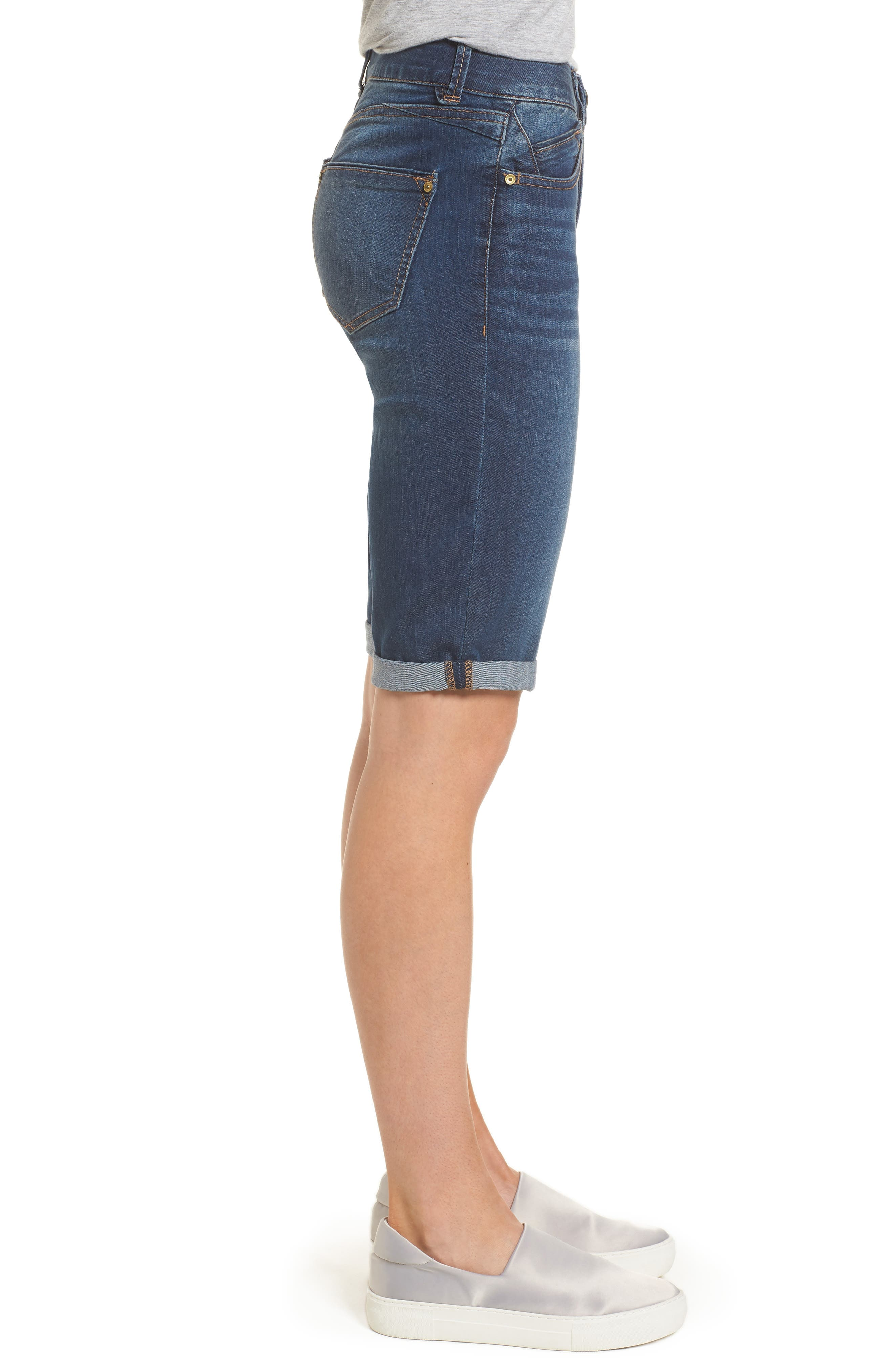 Alternate Image 3  - Wit & Wisdom Ab-solution Cuffed Denim Shorts (Nordstrom Exclusive)