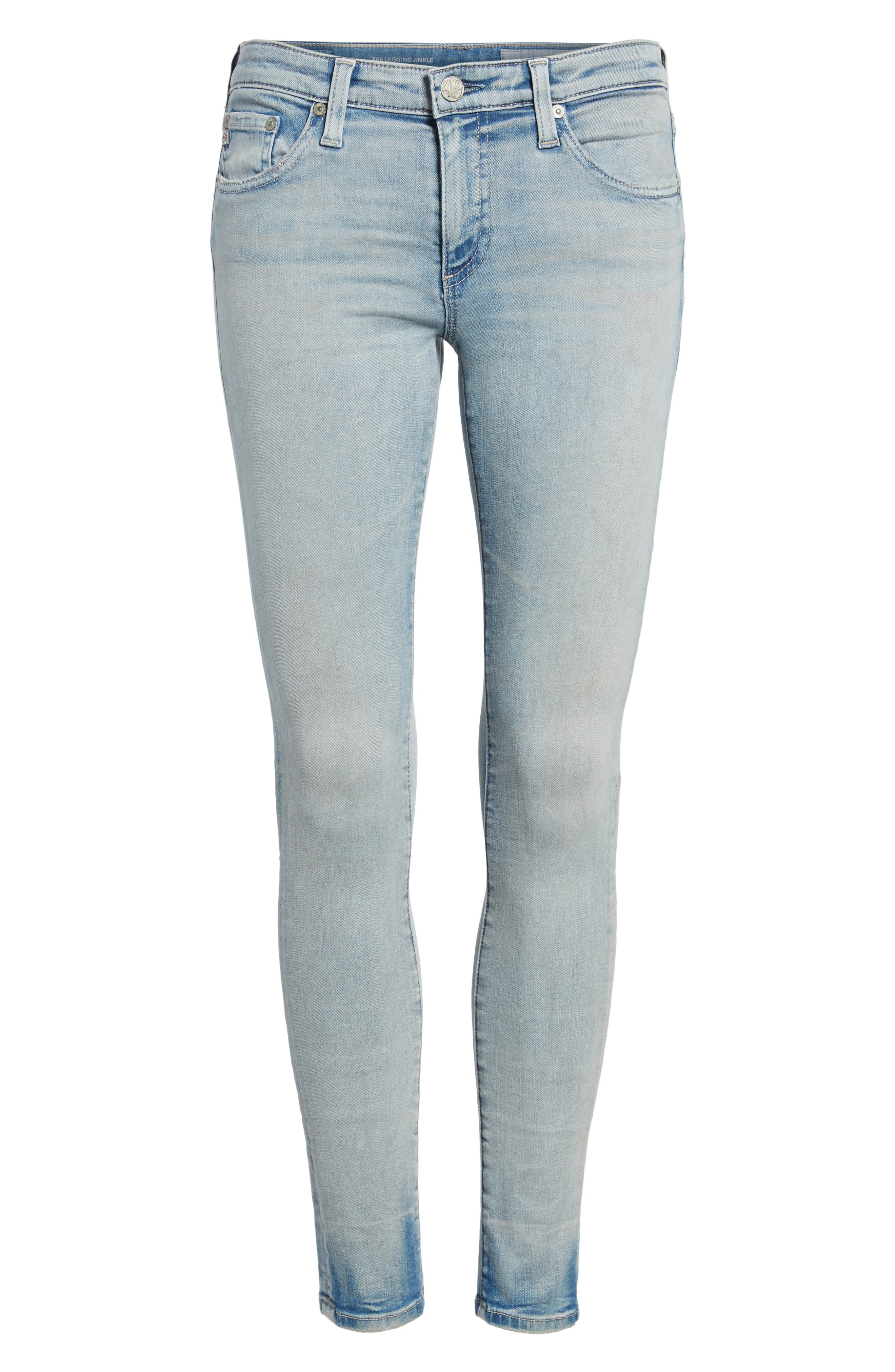 The Legging Ankle Super Skinny Jeans,                             Alternate thumbnail 7, color,                             18 Years-Tainted Clouds