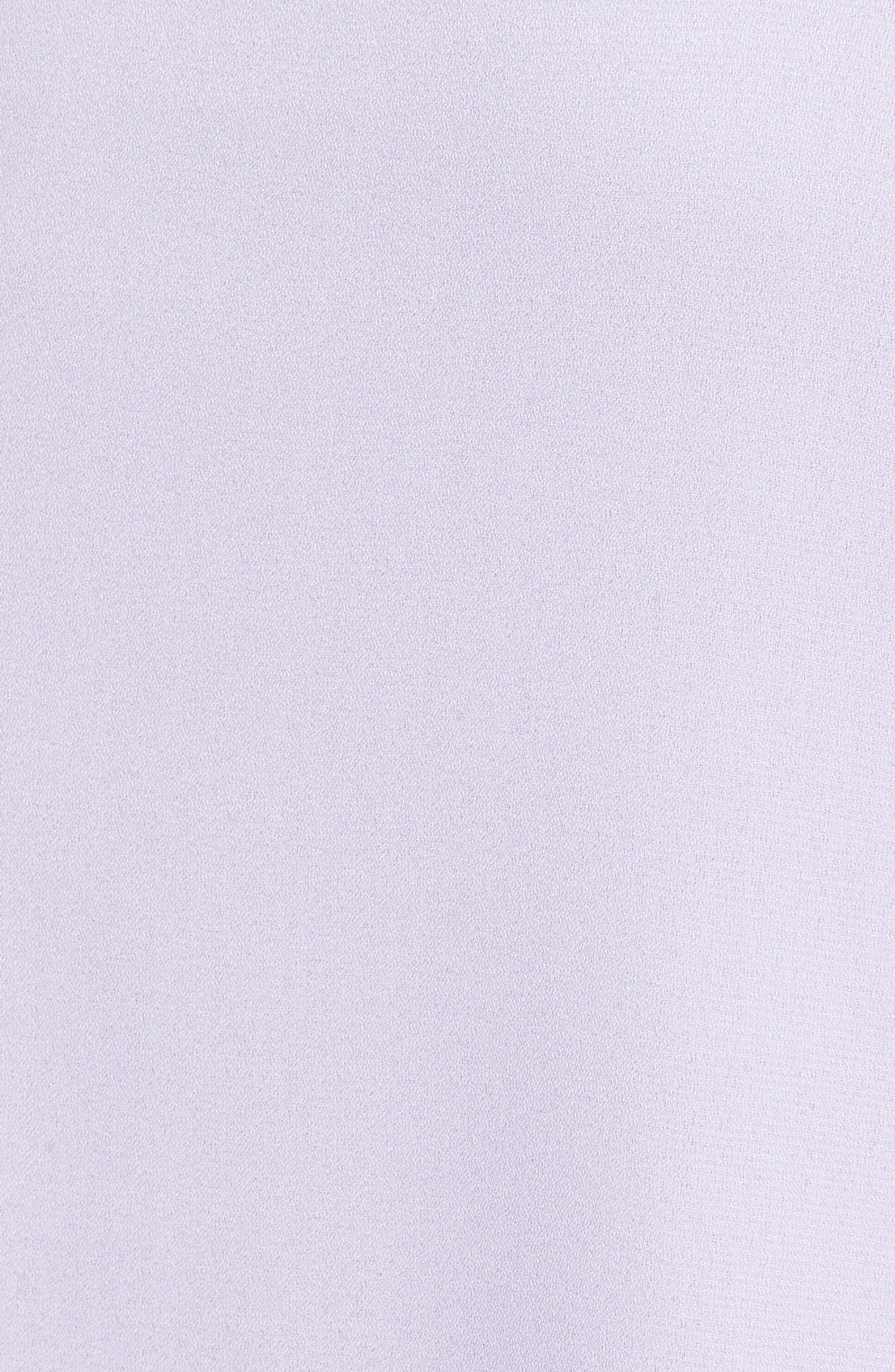 Knotted Waist Midi Dress,                             Alternate thumbnail 5, color,                             Lilac