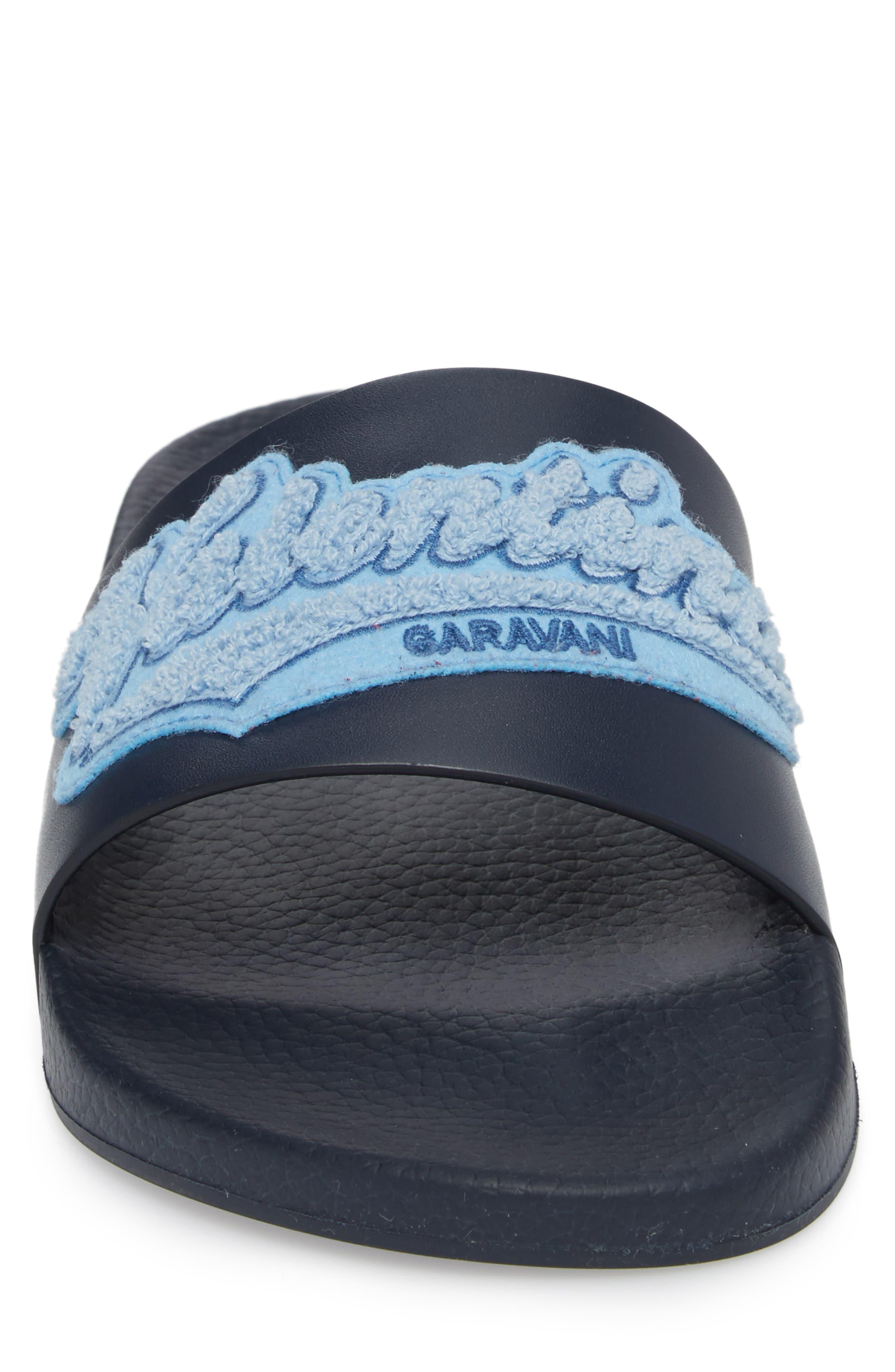 Slide Sandal,                             Alternate thumbnail 4, color,                             Marine/ Stone