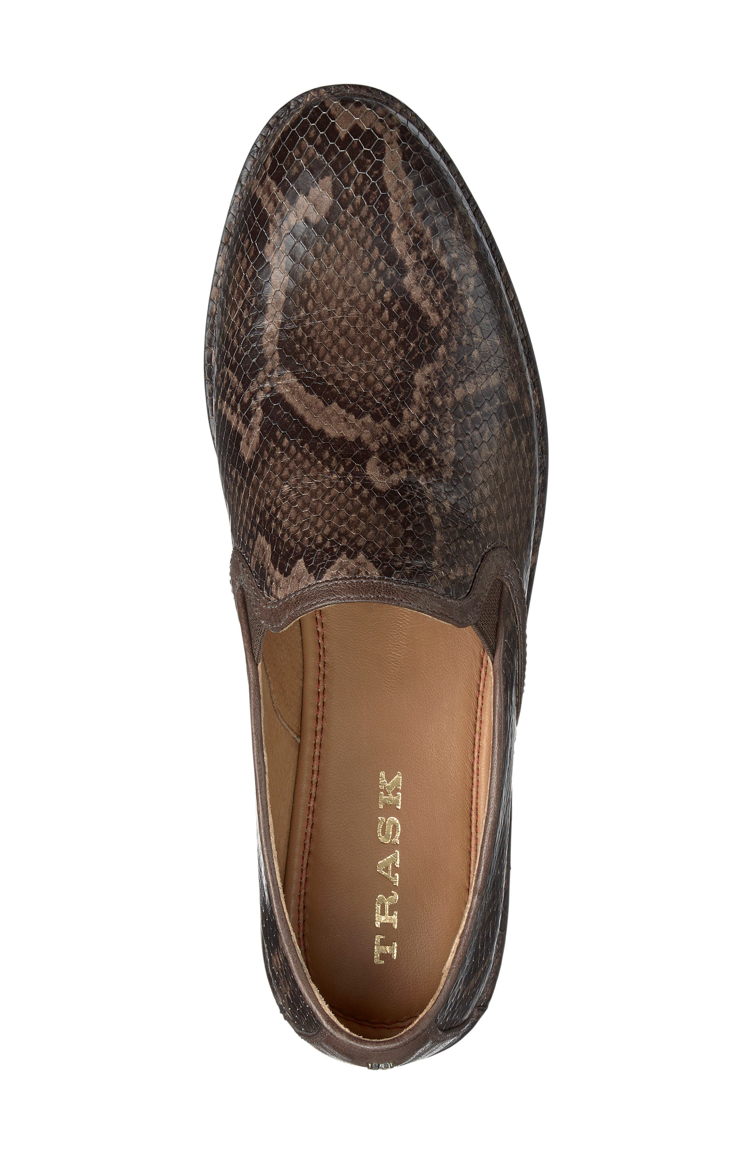 'Ali' Flat,                             Alternate thumbnail 5, color,                             Brown Print Leather