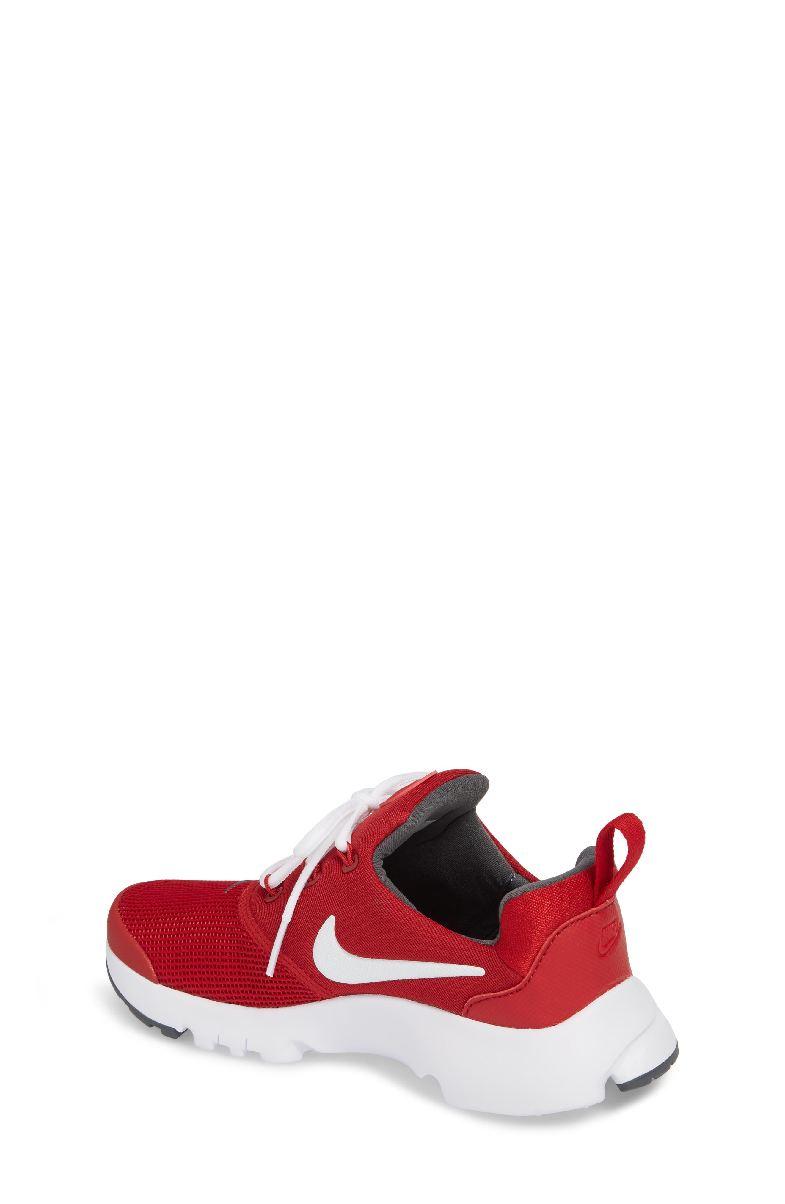 Presto Fly Sneaker,                             Alternate thumbnail 2, color,                             Gym Red/ Dark Grey/ White