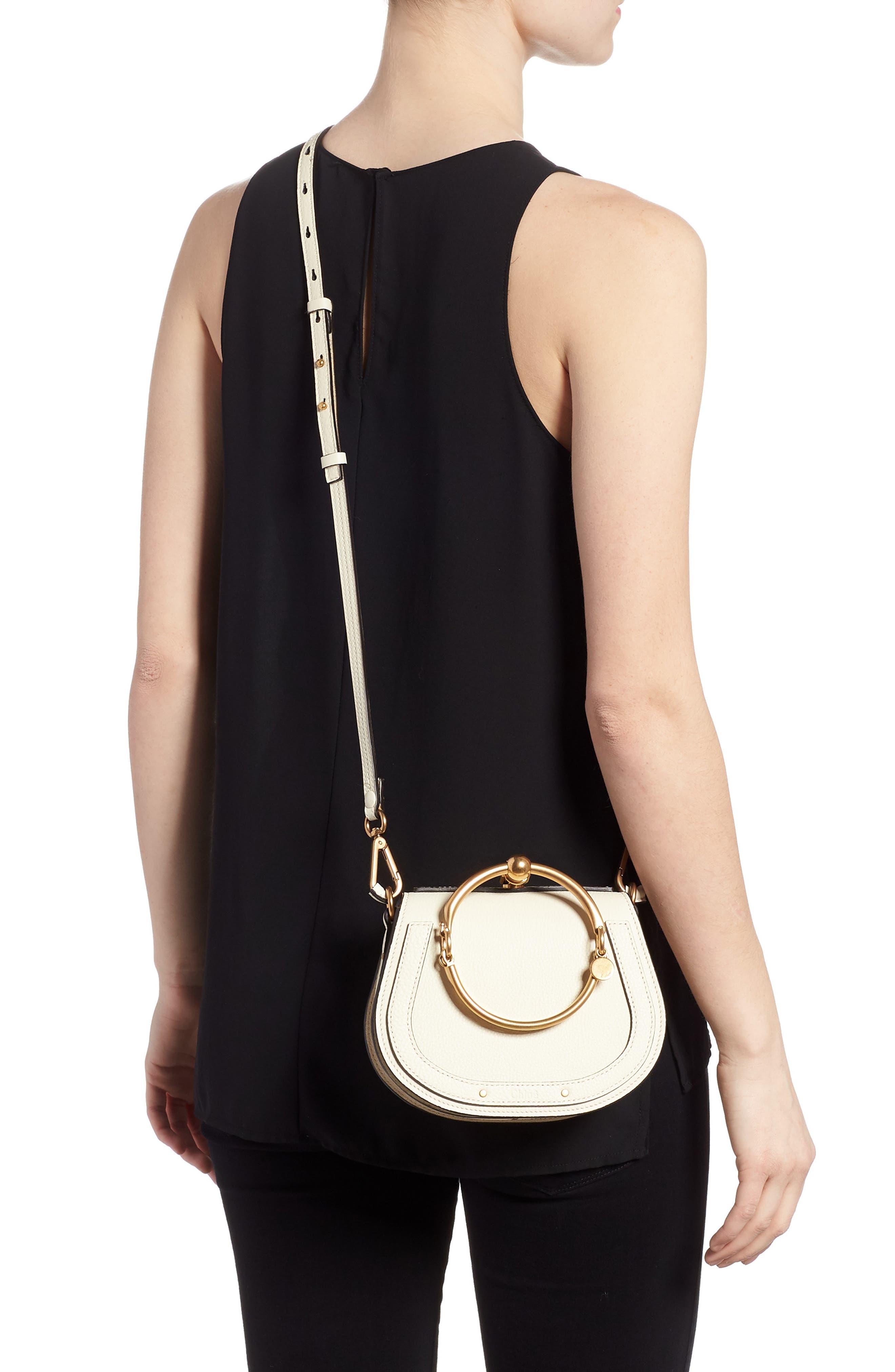 Small Nile Bracelet Leather Crossbody Bag,                             Alternate thumbnail 2, color,                             Off White