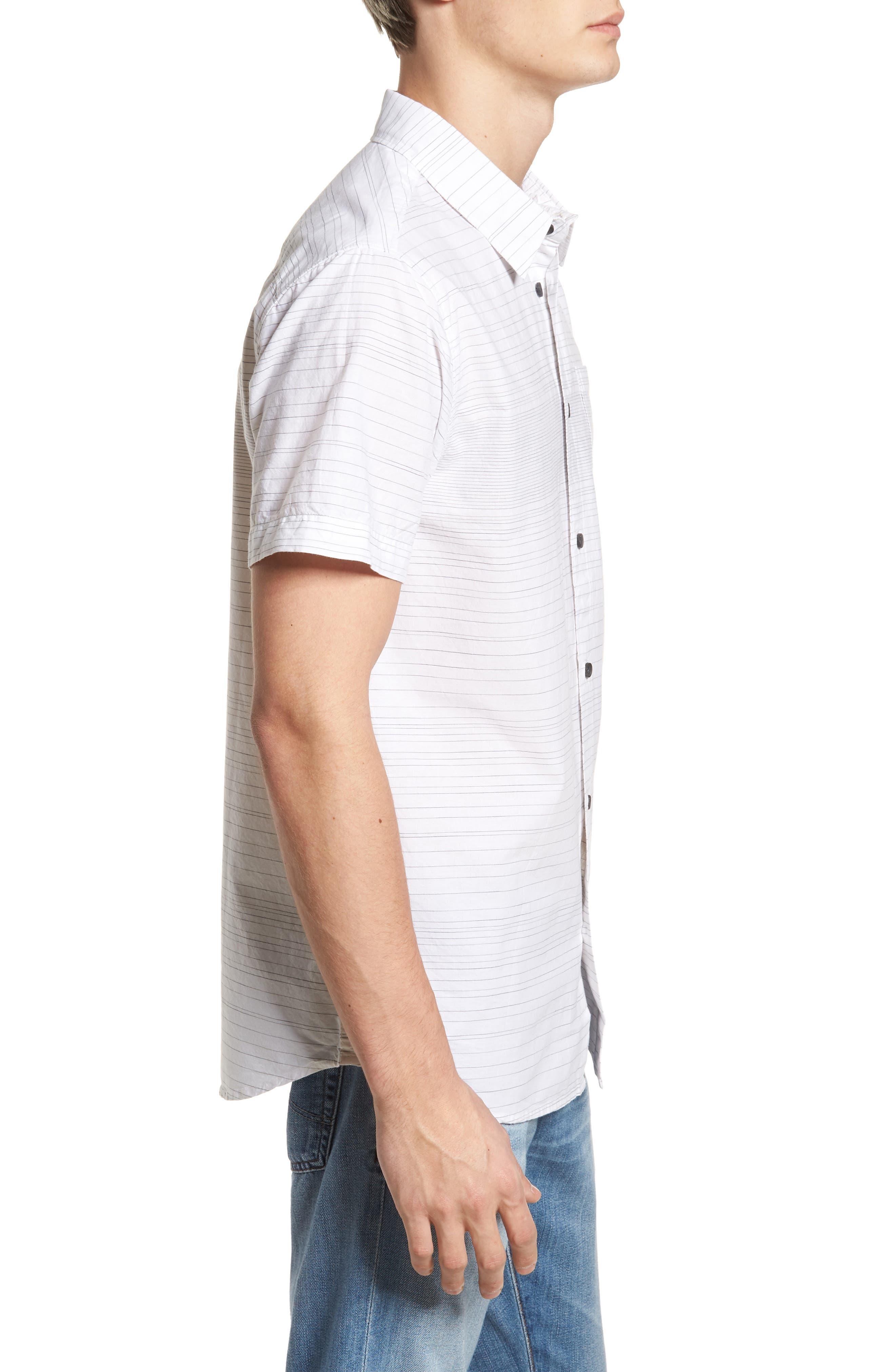 Hound Woven Shirt,                             Alternate thumbnail 3, color,                             White