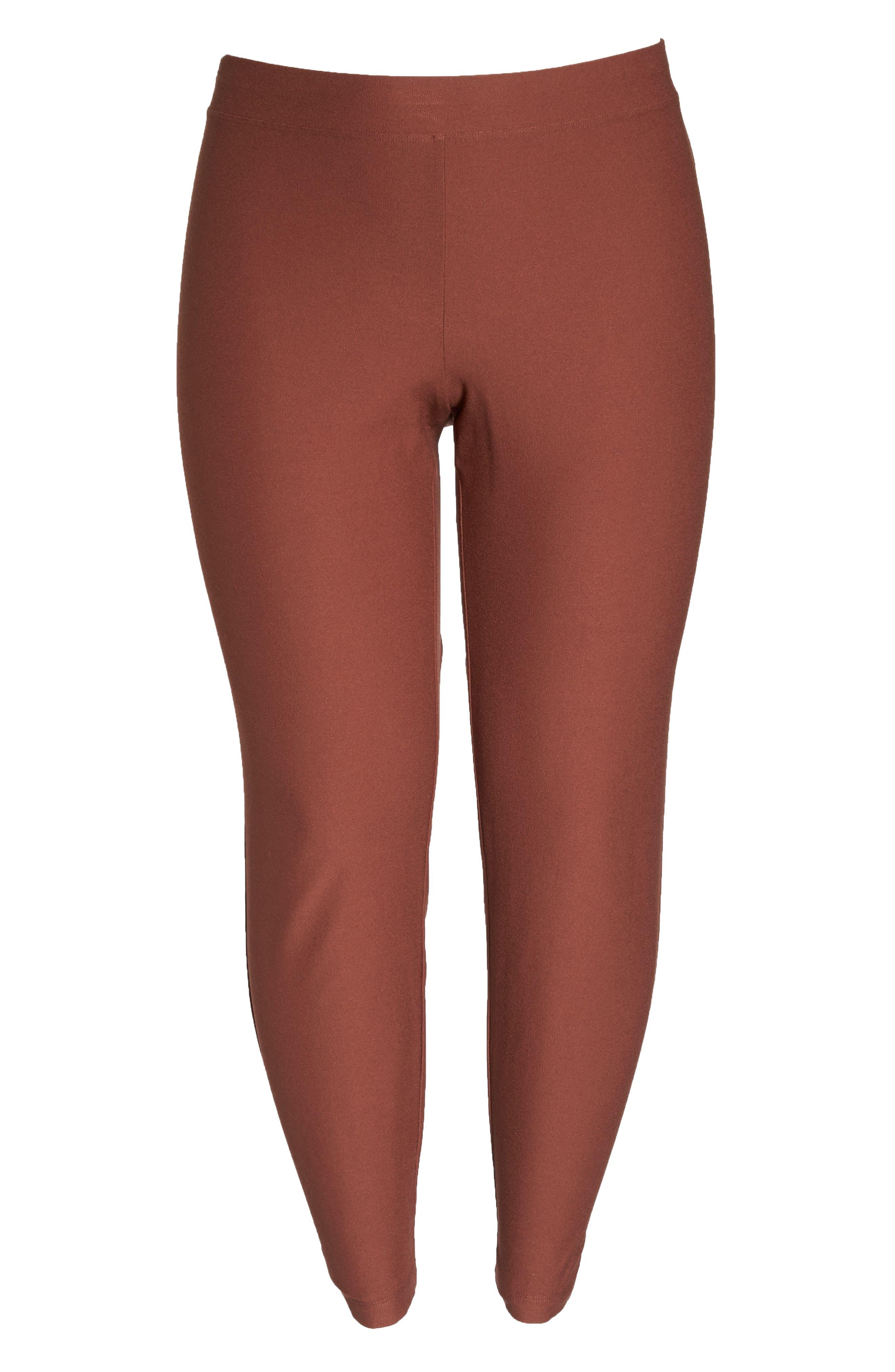 Slim Ankle Pants,                             Alternate thumbnail 7, color,                             Russet