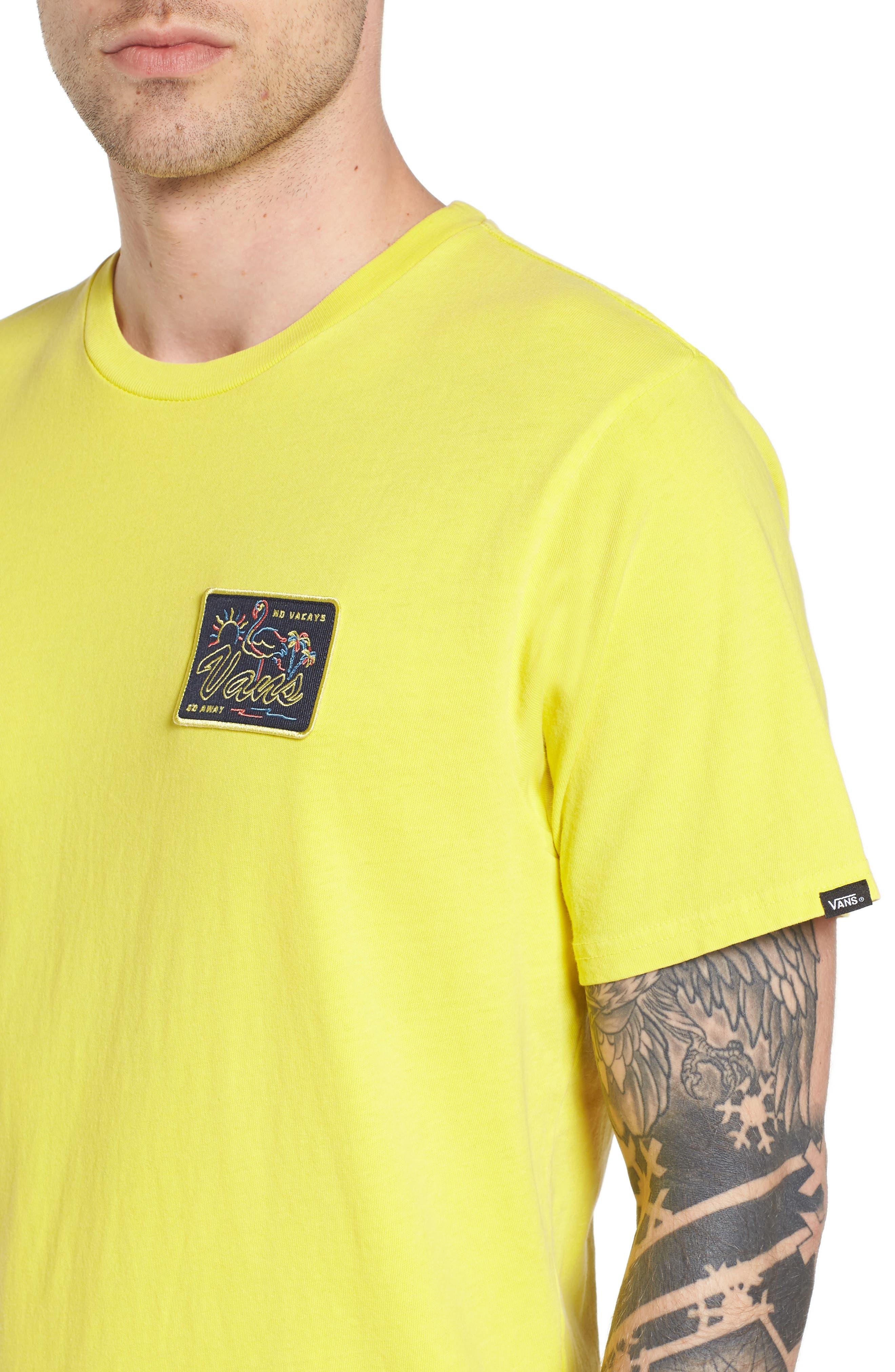 No Tourist Patch T-Shirt,                             Alternate thumbnail 4, color,                             Green Sheen