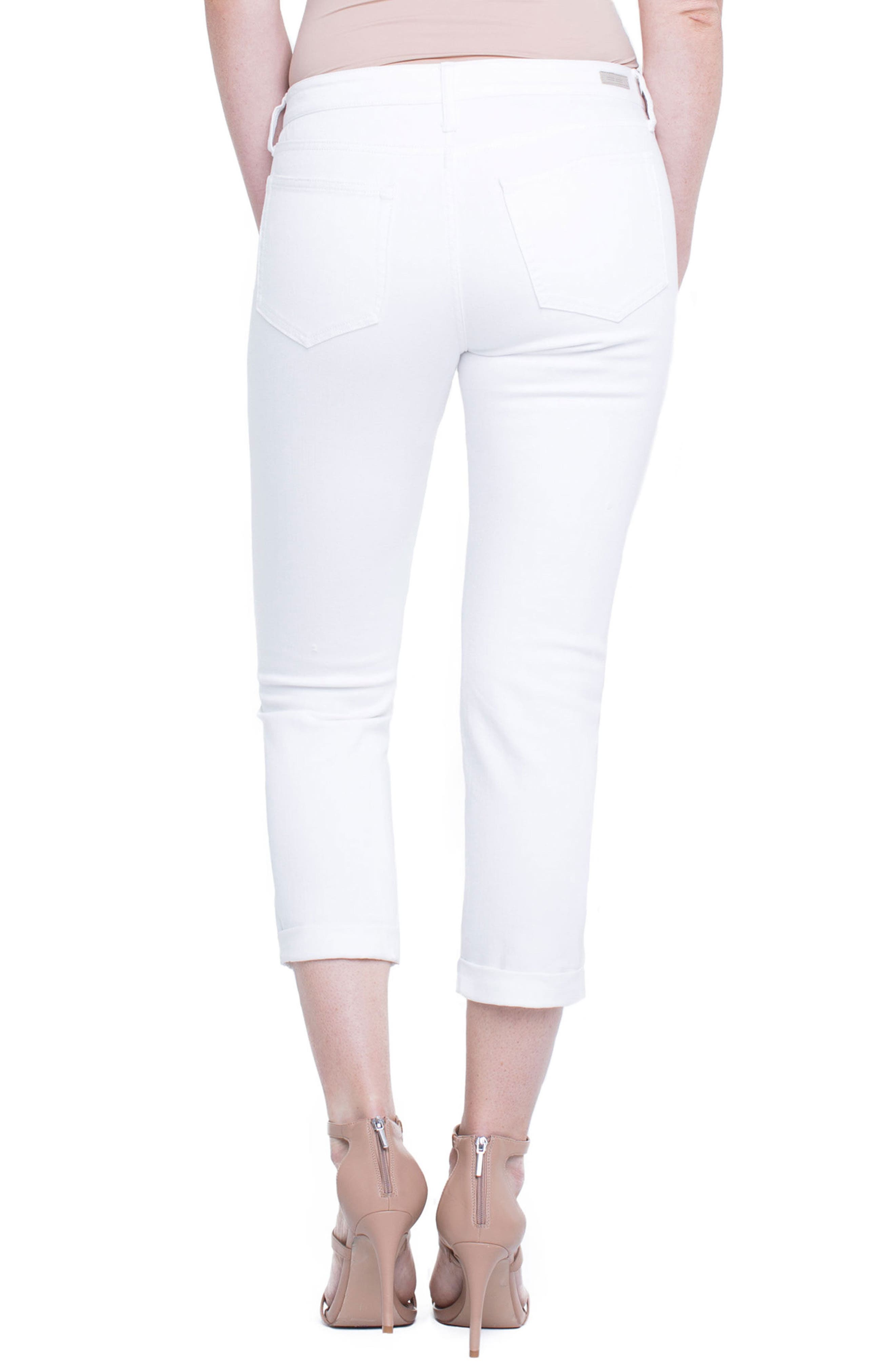 Marley Girlfriend Jeans,                             Alternate thumbnail 2, color,                             Luna White Mended