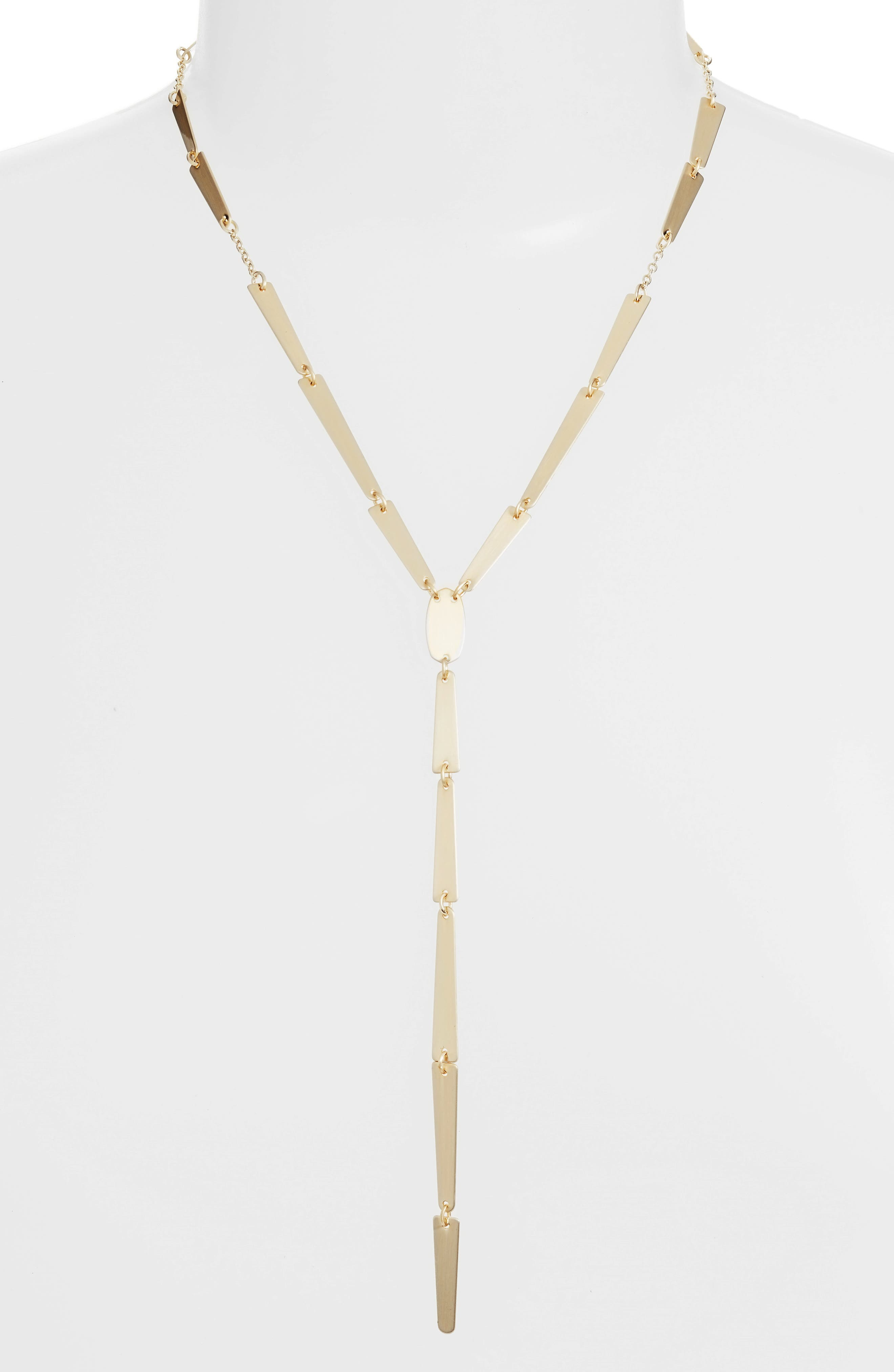 Gail Y-Shape Necklace,                         Main,                         color, Gold