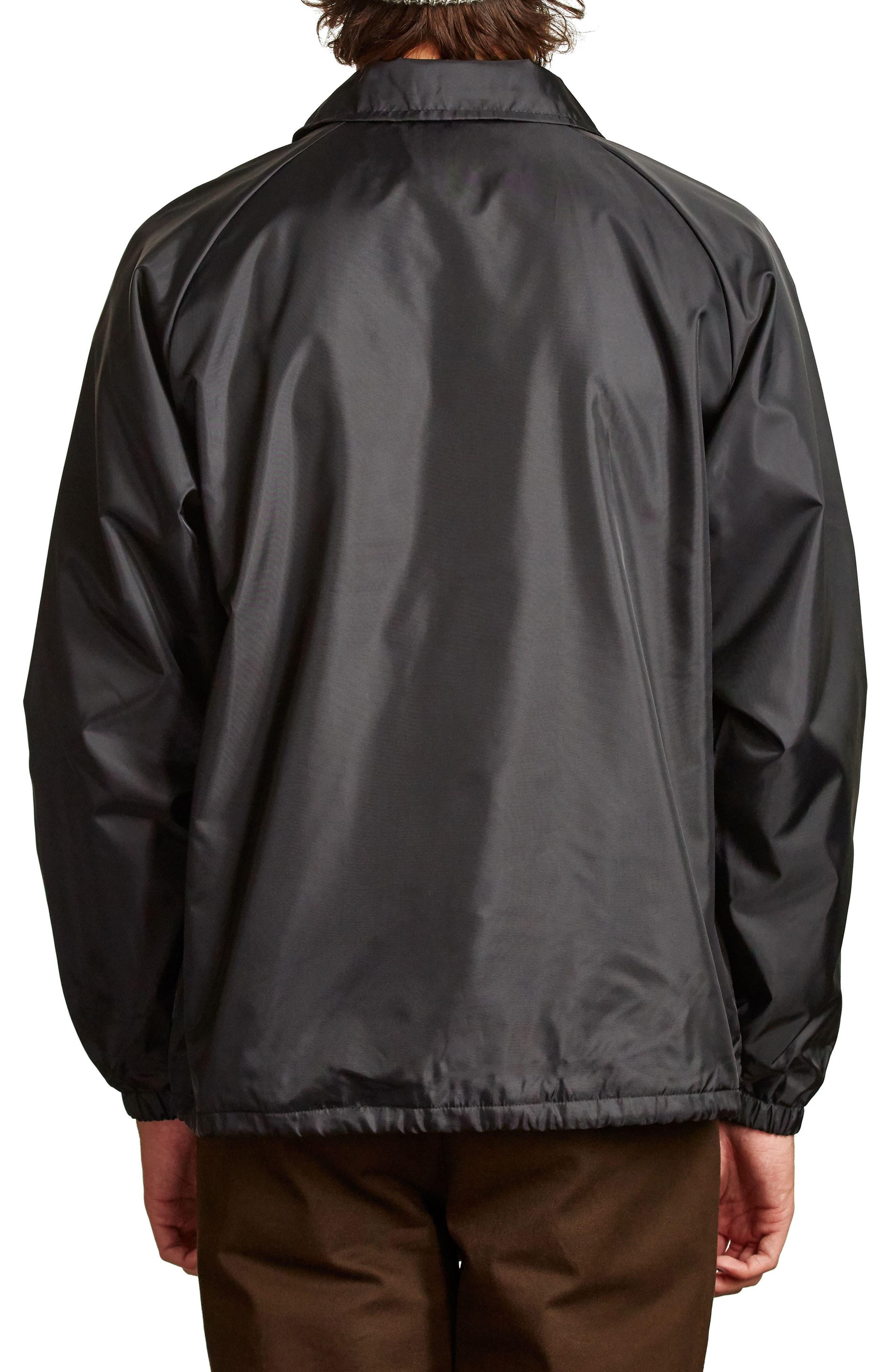 Palmer Water Resistant Coach's Jacket,                             Alternate thumbnail 2, color,                             Black