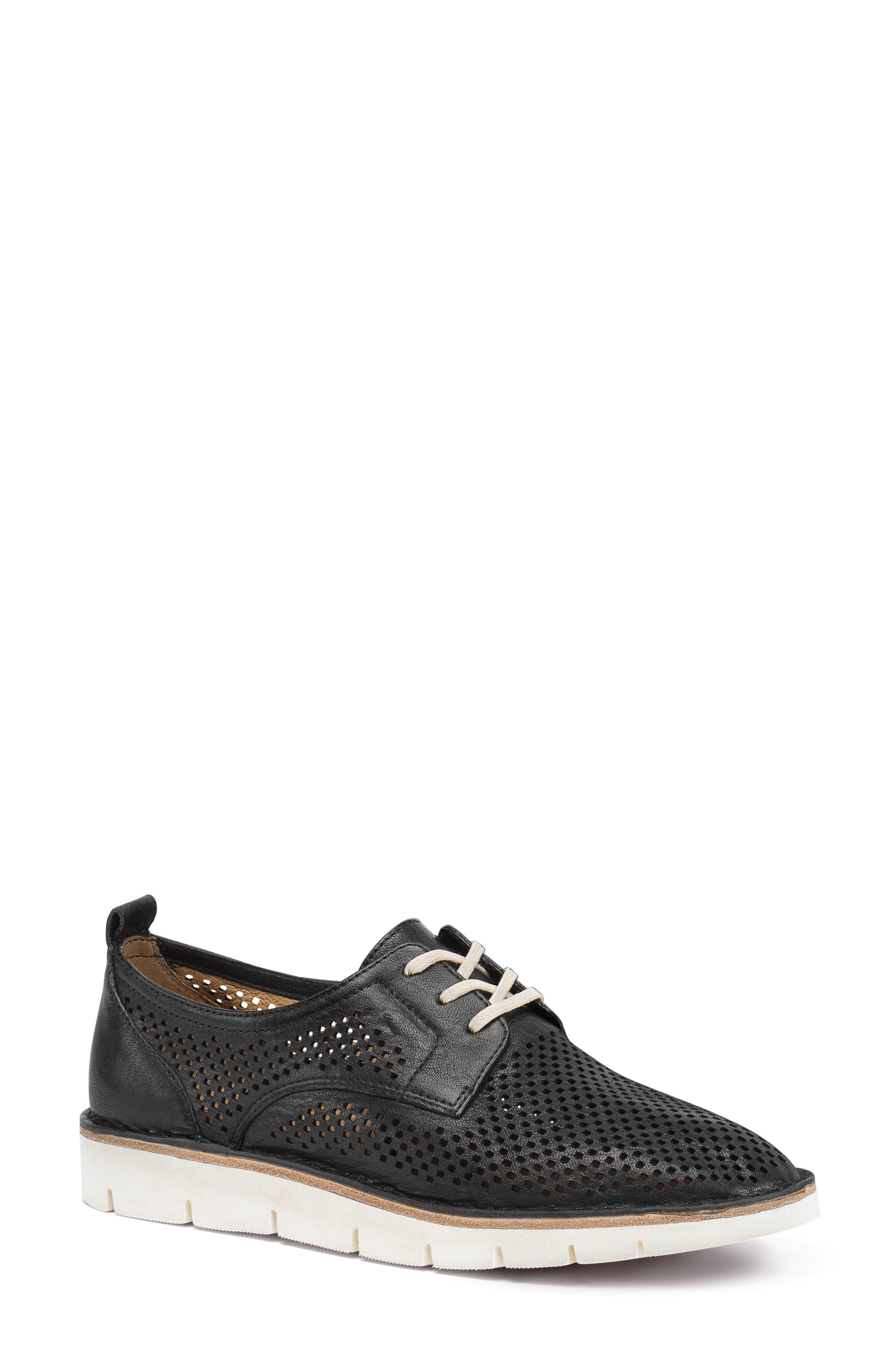 Lena Sneaker,                             Main thumbnail 1, color,                             Black Leather