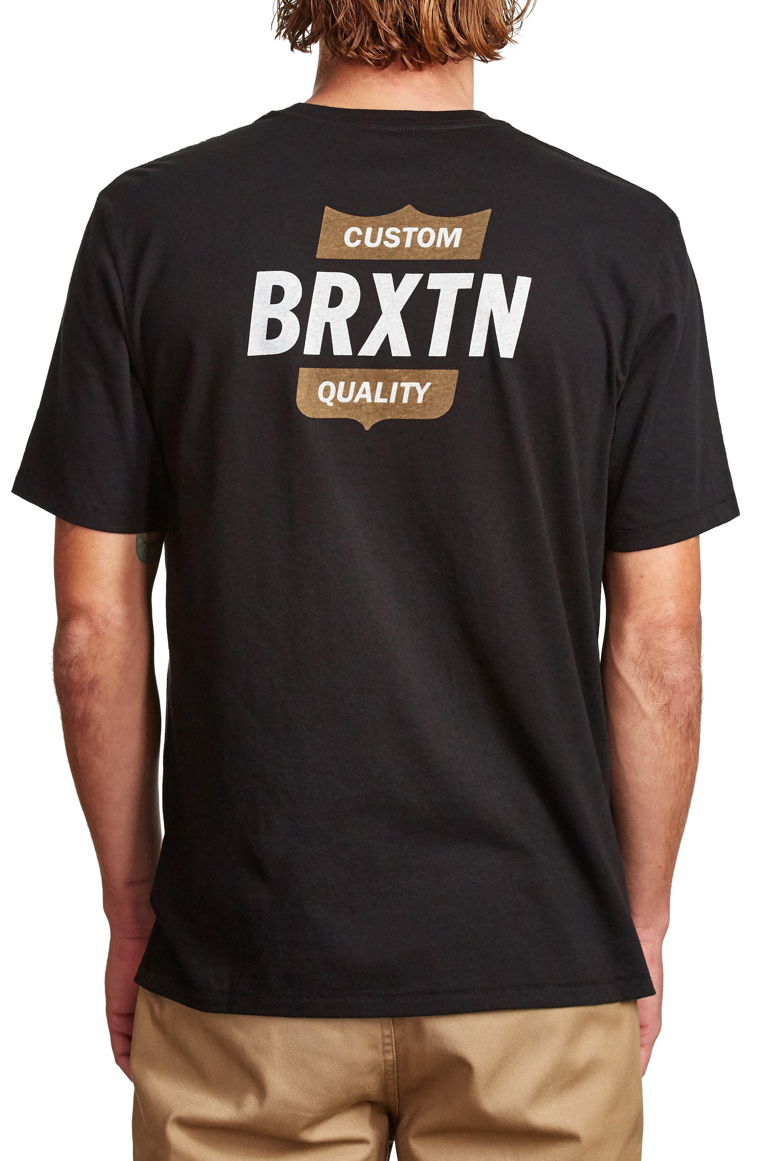 Garth II T-Shirt,                             Alternate thumbnail 2, color,                             Black/ Gold